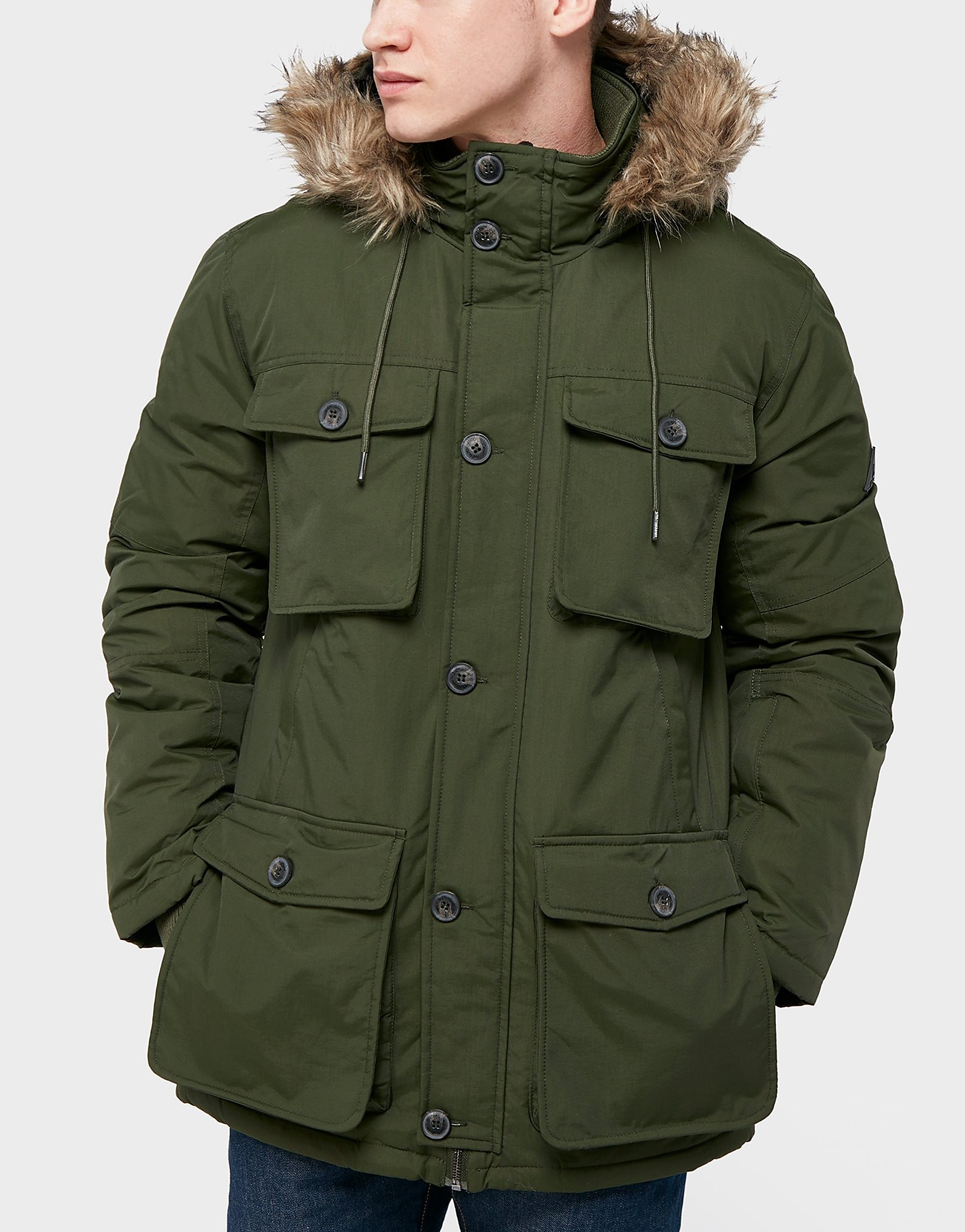 One True Saxon MultiPocket Parka Jacket  Exclusive  Green Green