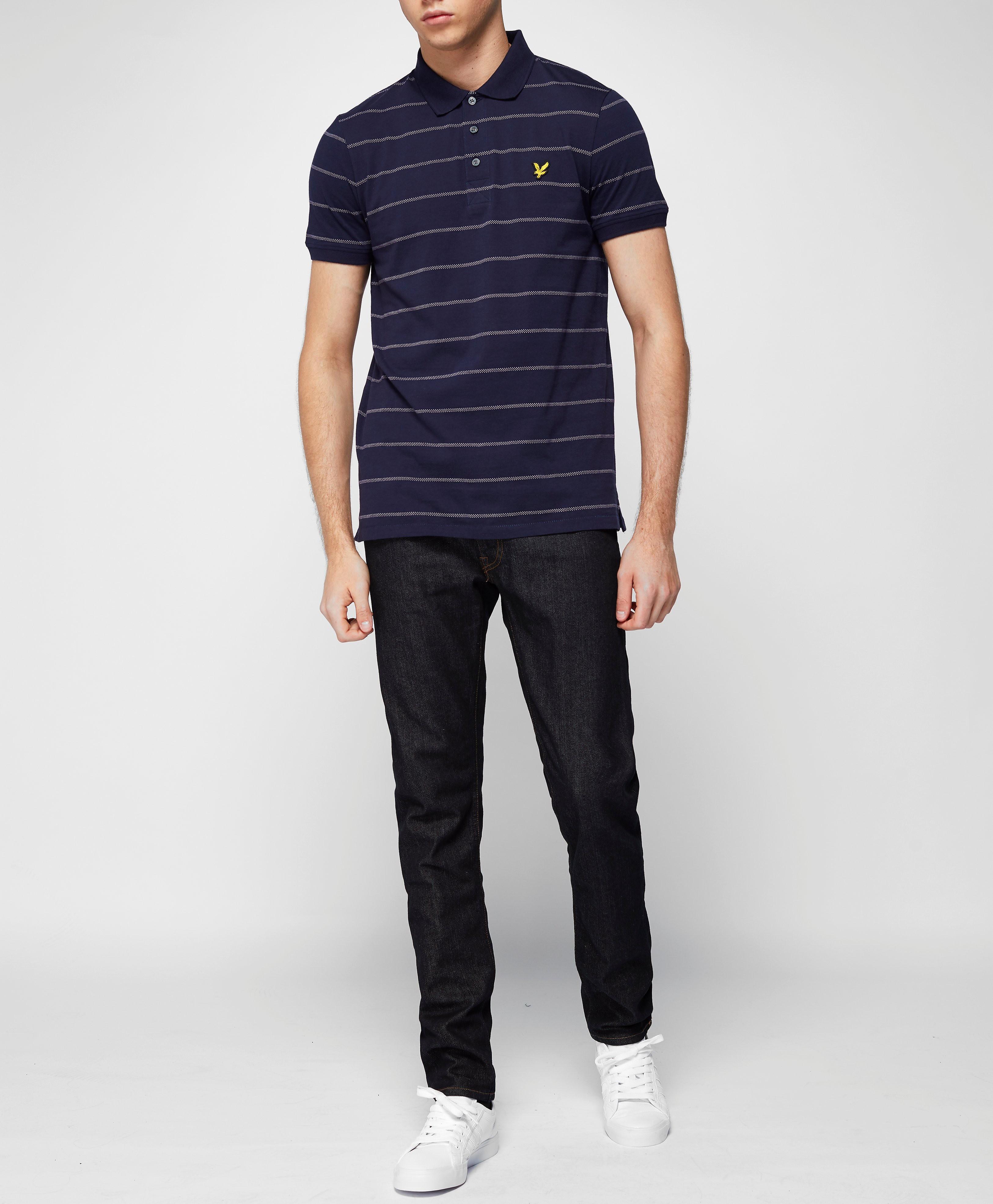 Lyle & Scott Birdseye Stripe Polo Shirt