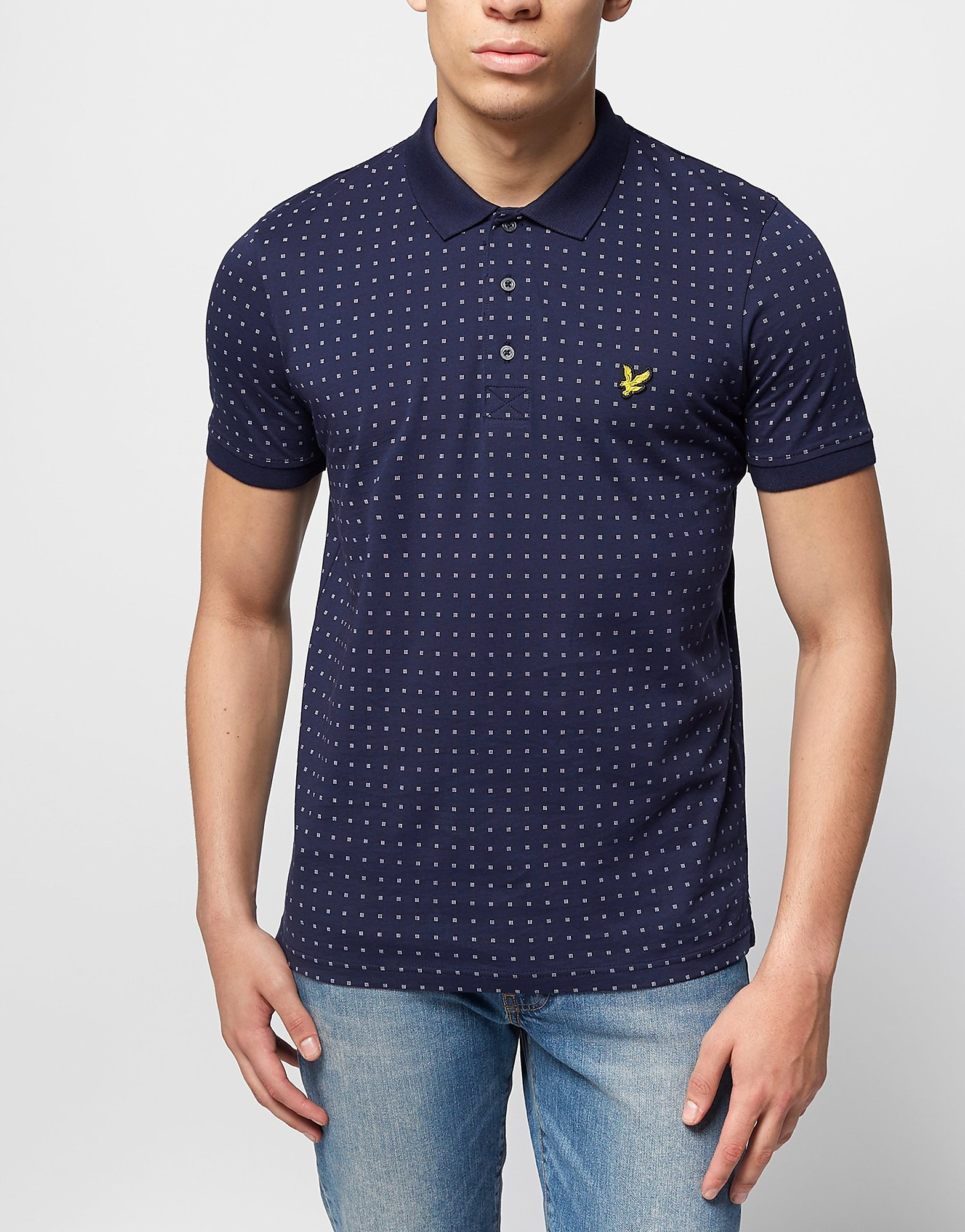 Lyle & Scott Square Dot Print Polo Shirt