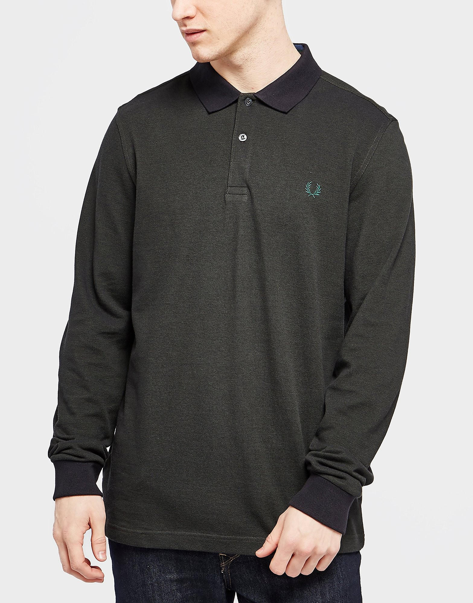 Fred Perry Long Sleeve Pique Polo Shirt