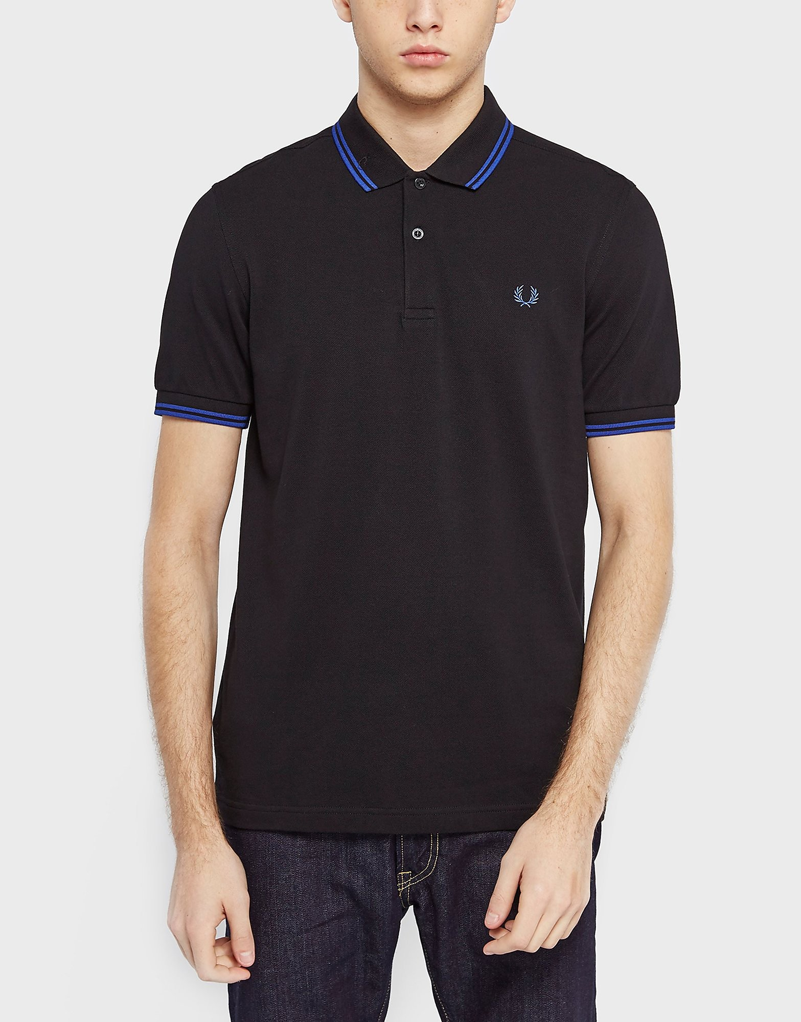 Fred Perry Twin Tip Polo Shirt  Black Black