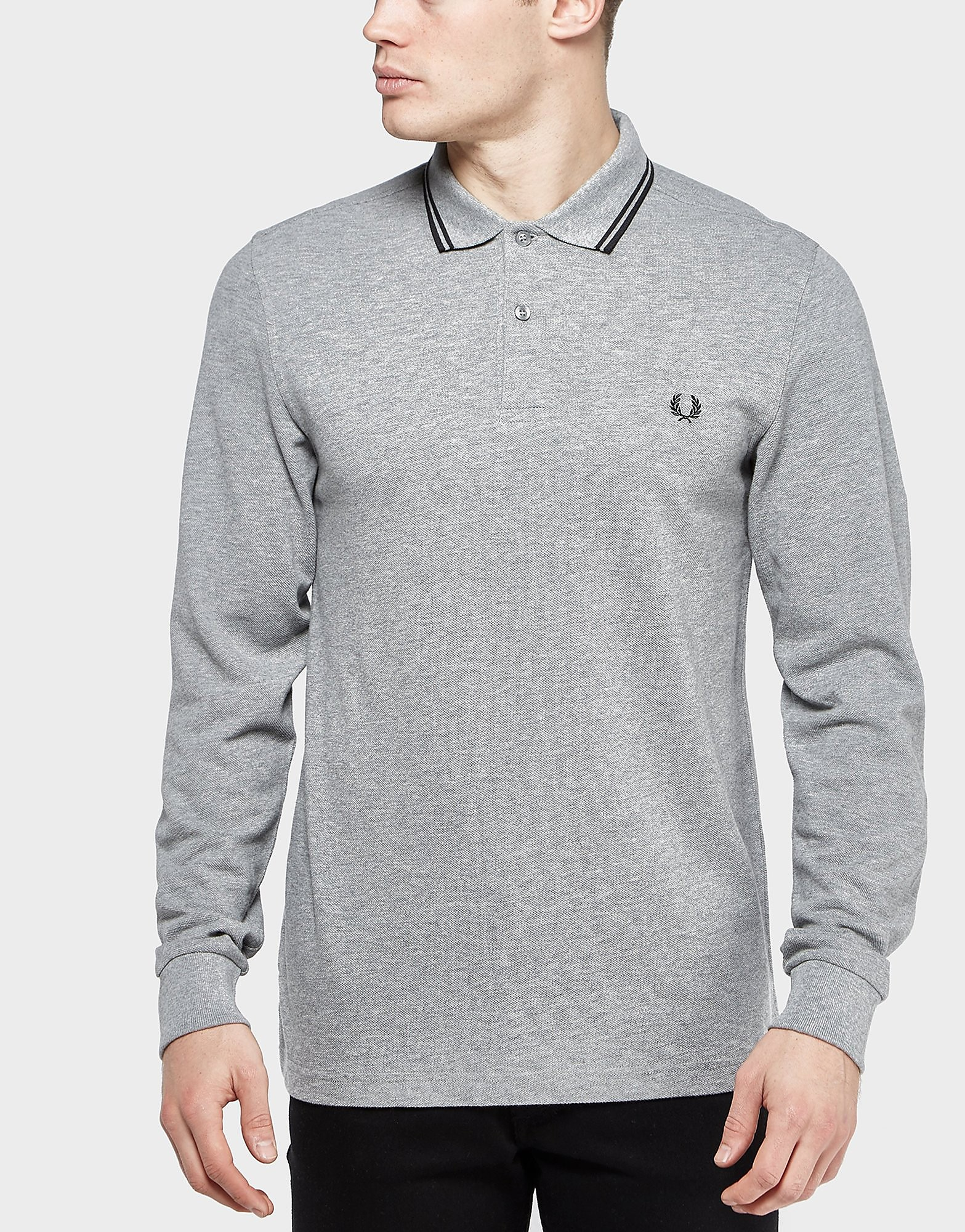 Fred Perry Twin Tip Long-Sleeved Polo Shirt
