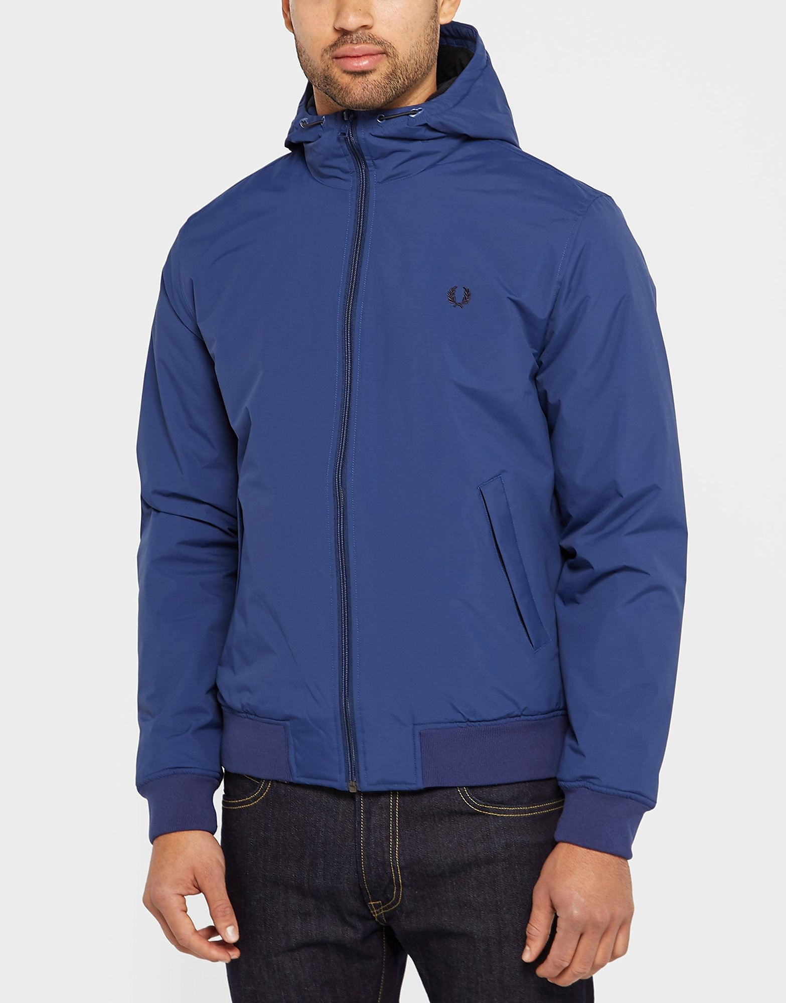 Fred Perry Brentham Hooded Jacket  Blue Blue