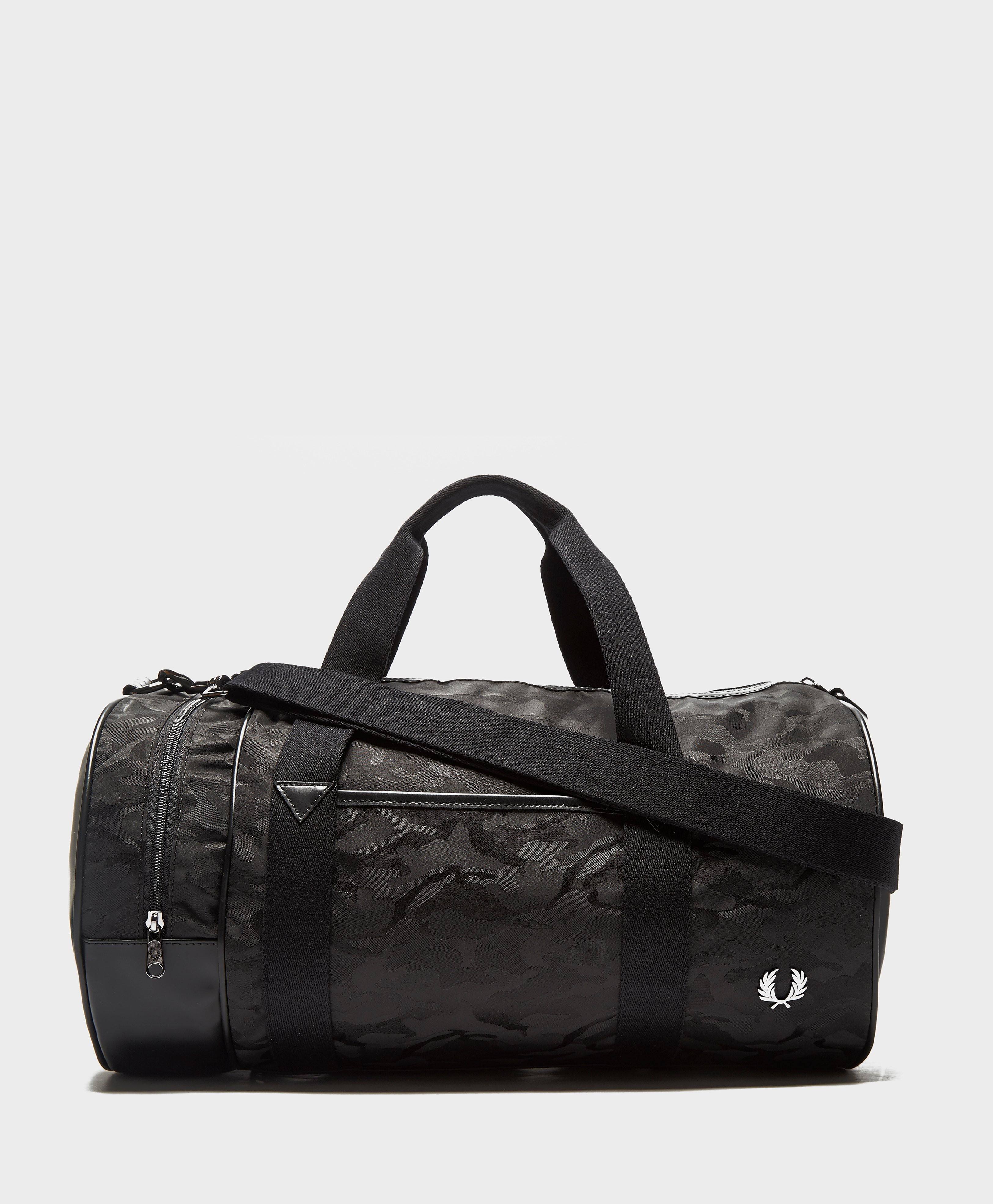 Fred Perry Camo Barrel Bag