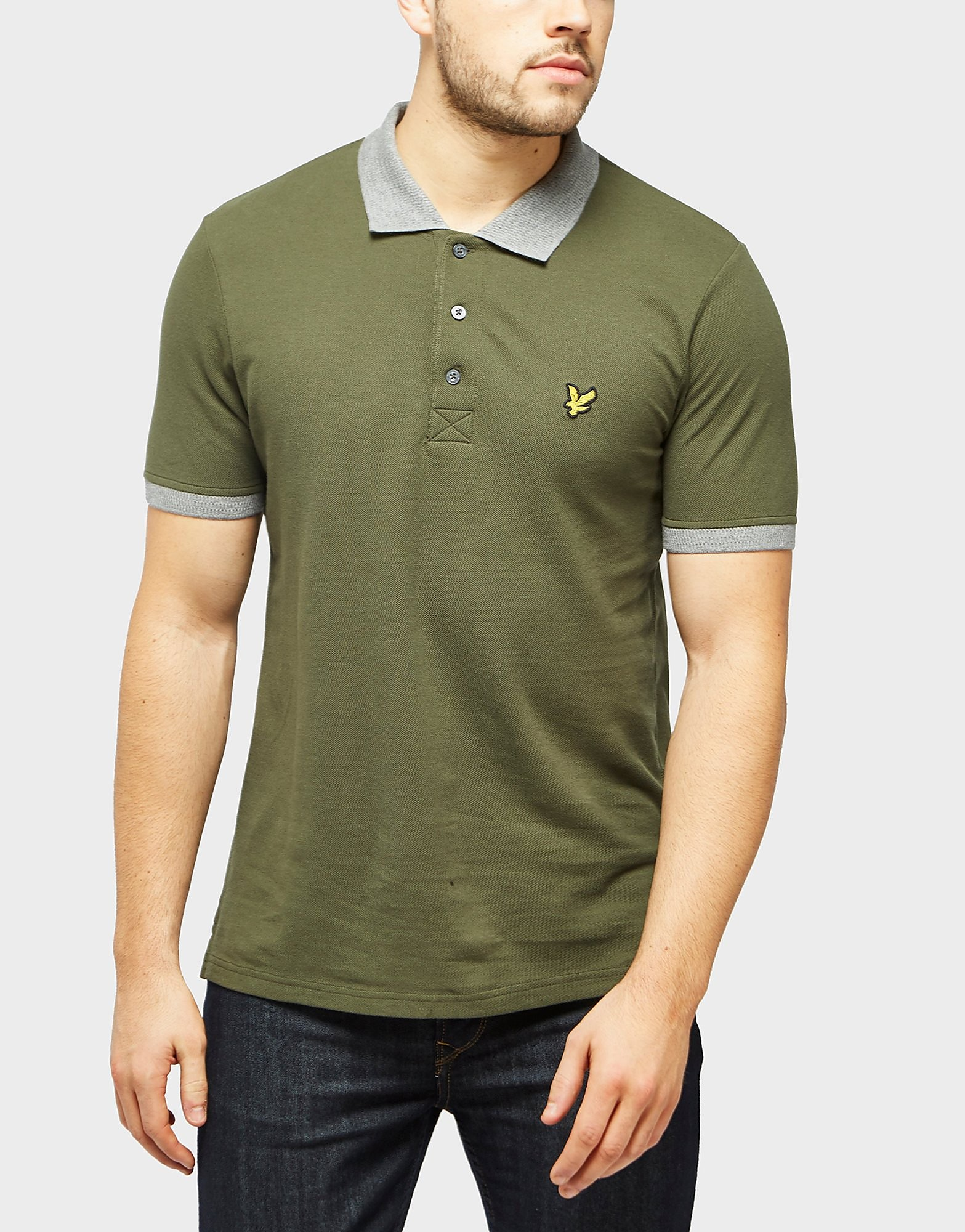 Lyle & Scott Ribbed Collar Short Sleeve Polo Shirt