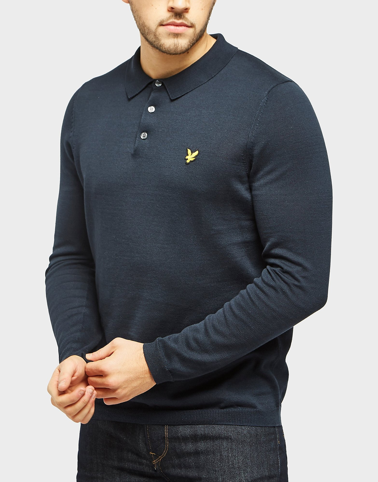 Lyle & Scott Long Sleeve Knit Polo Shirt
