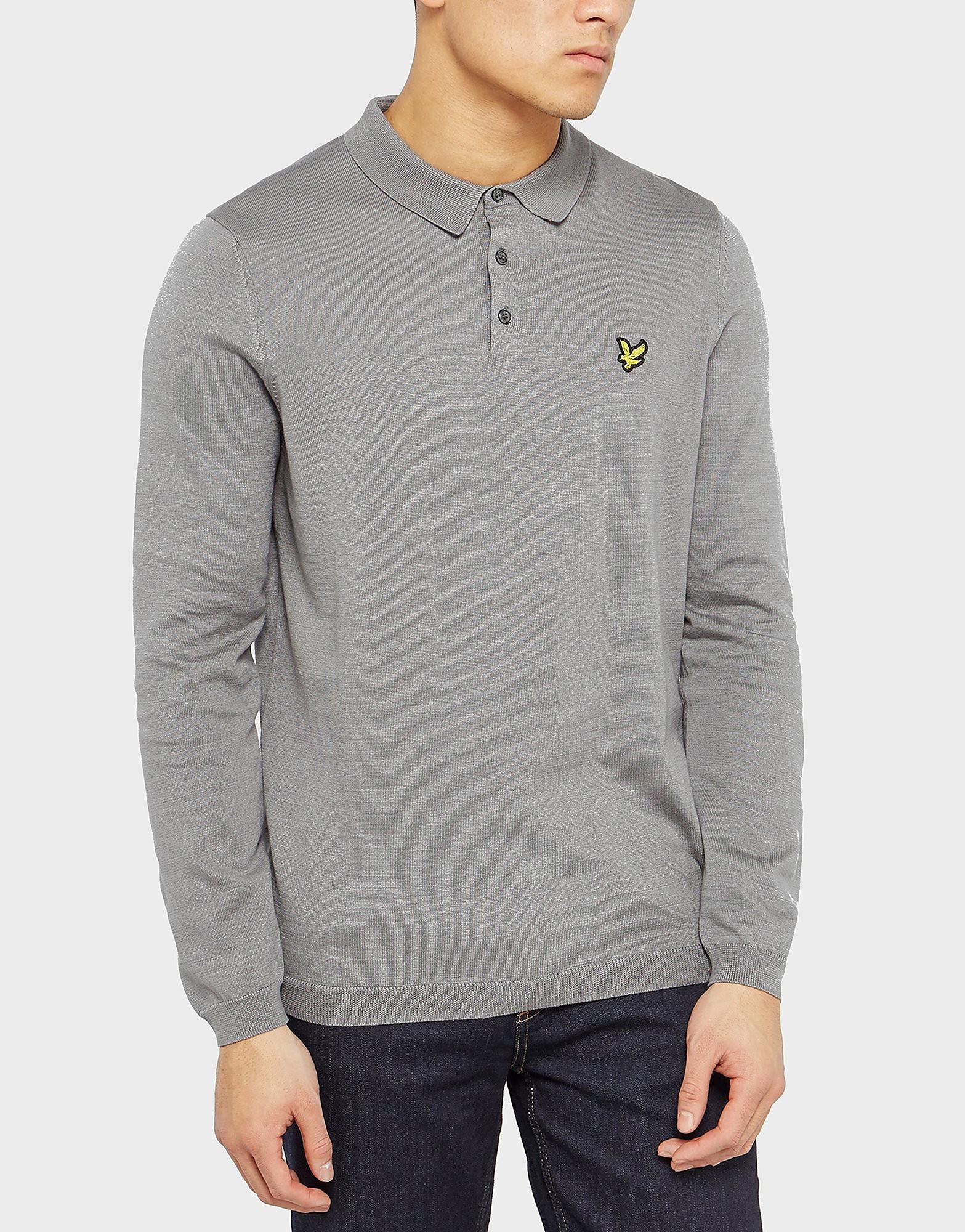 Lyle & Scott Long Sleeve Knit Polo Shirt