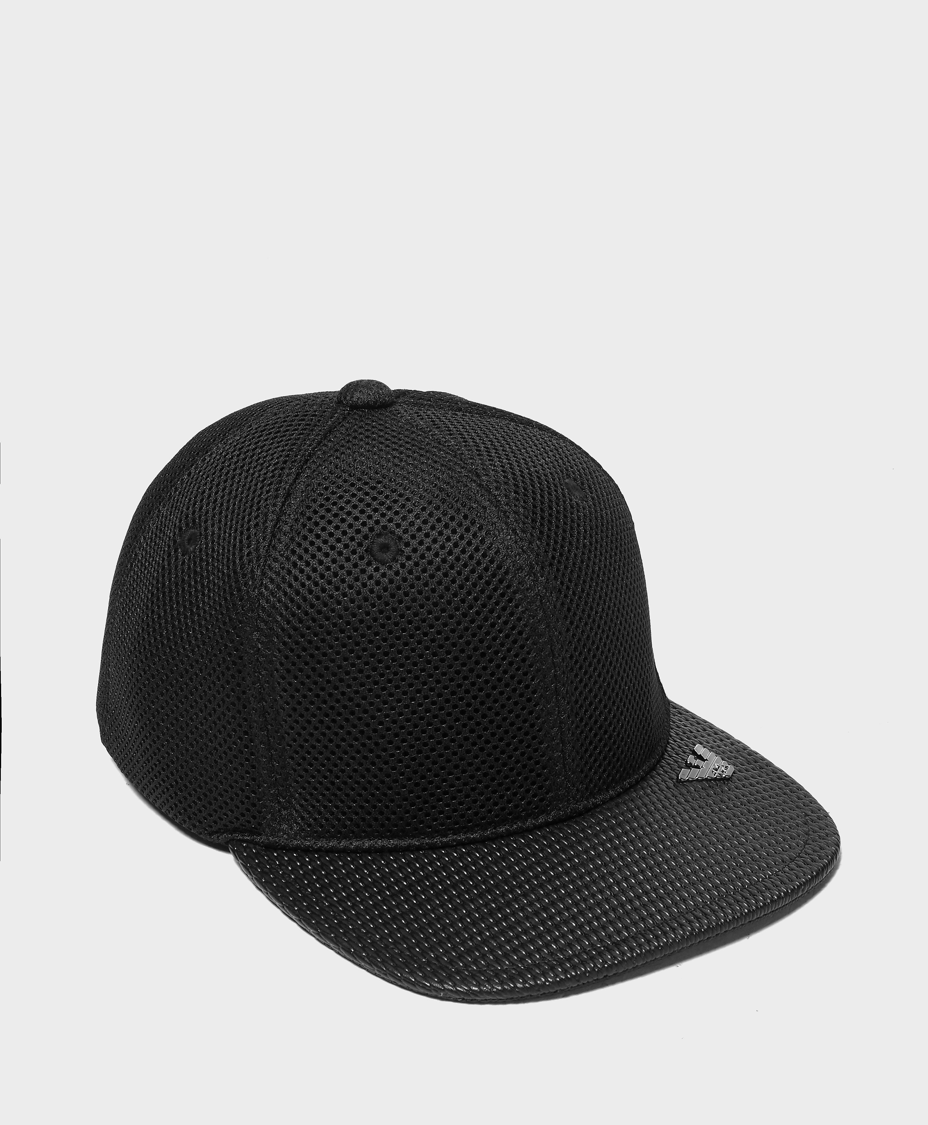 Armani Jeans Mesh Cap  Black Black
