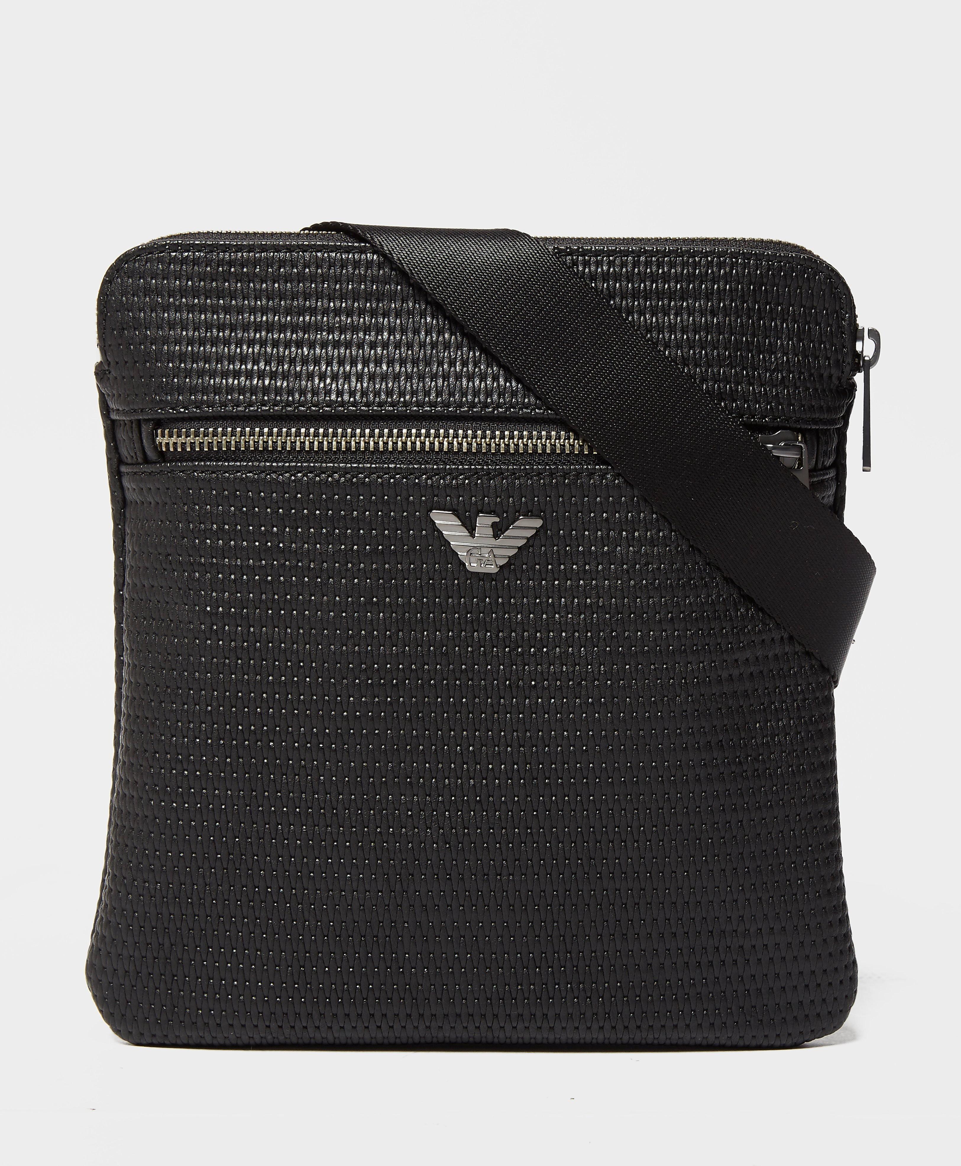 Armani Jeans Metal Eagle Bag  Black Black