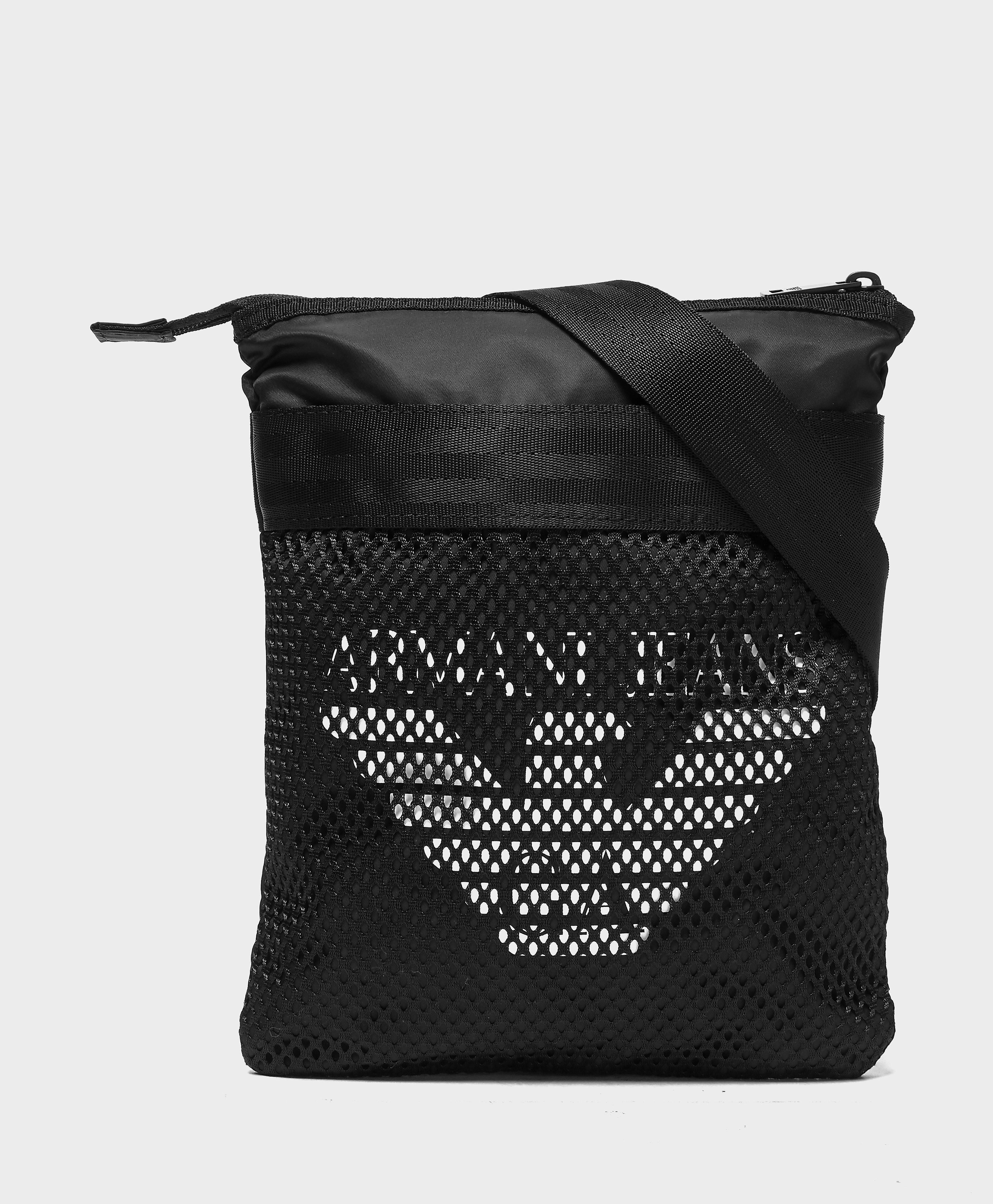 Armani Jeans Eagle Mesh Bag  Black Black