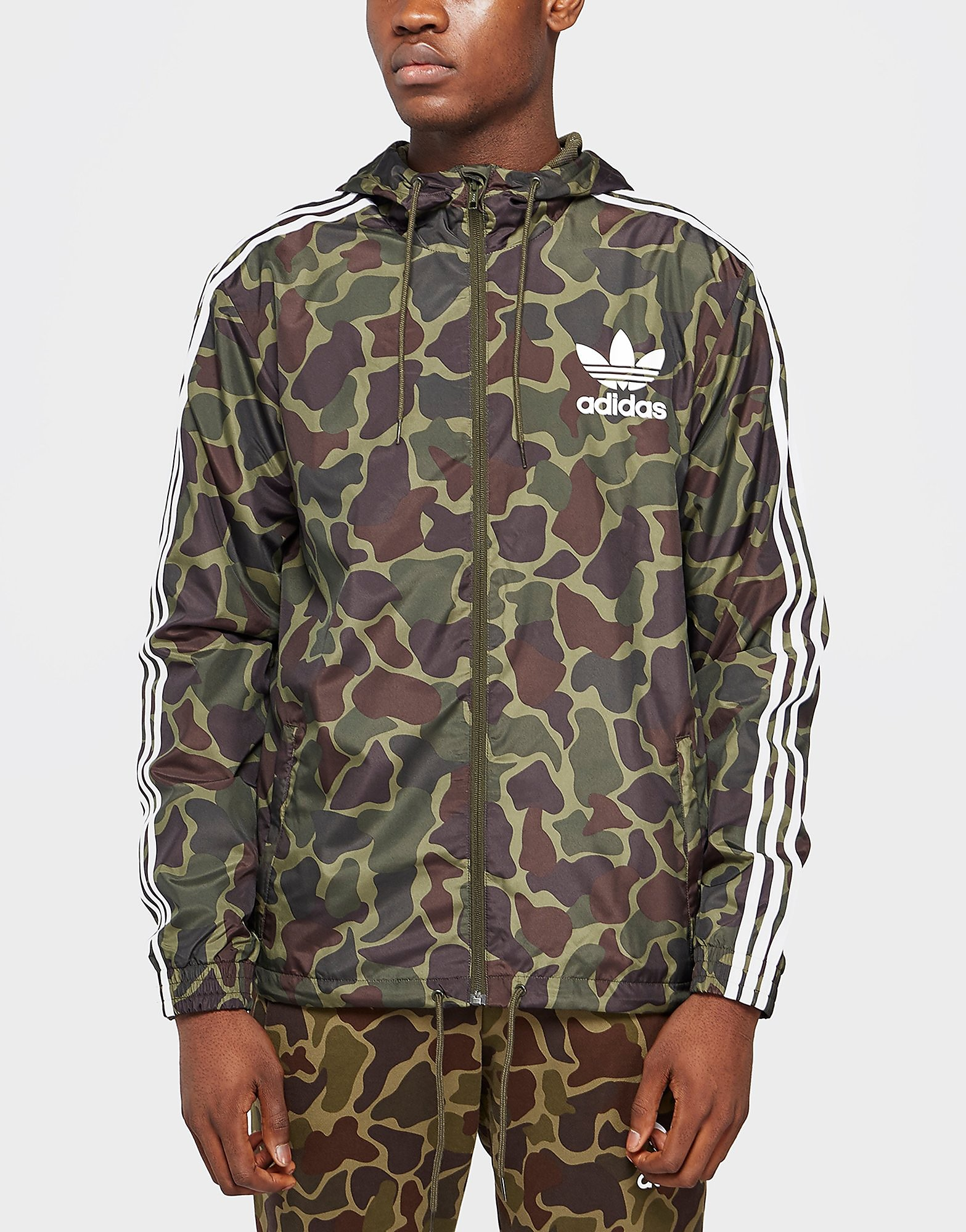 adidas Originals Trefoil All Over Print Jacket  Camouflage Camouflage