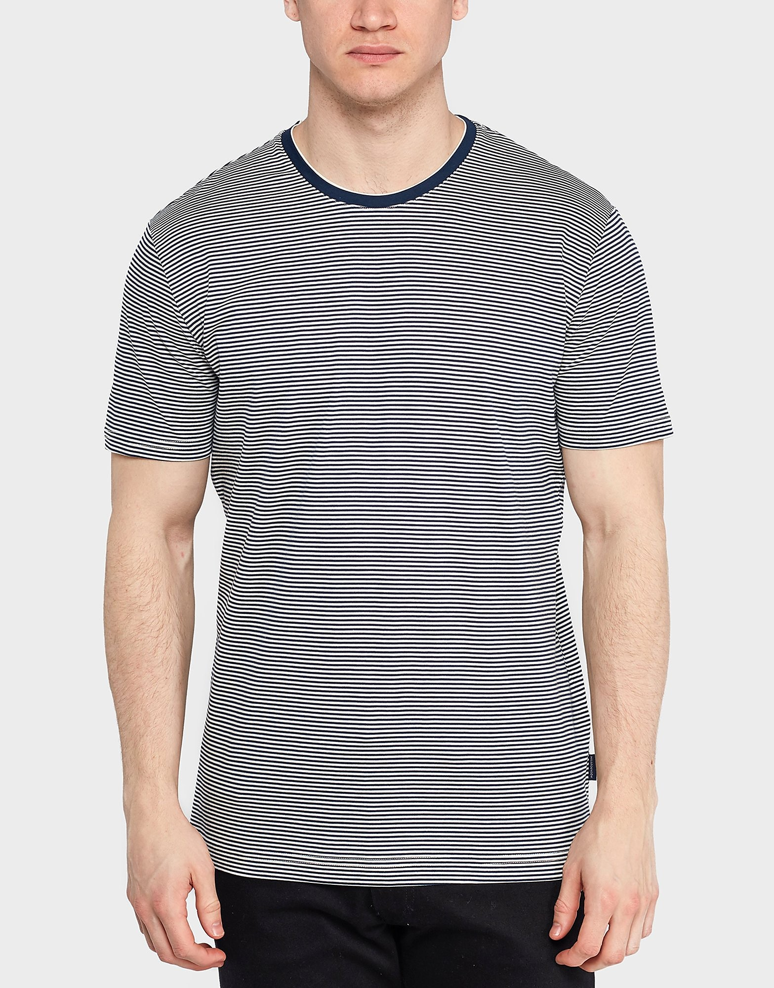 Aquascutum Tyson Stripe Short Sleeve T-Shirt