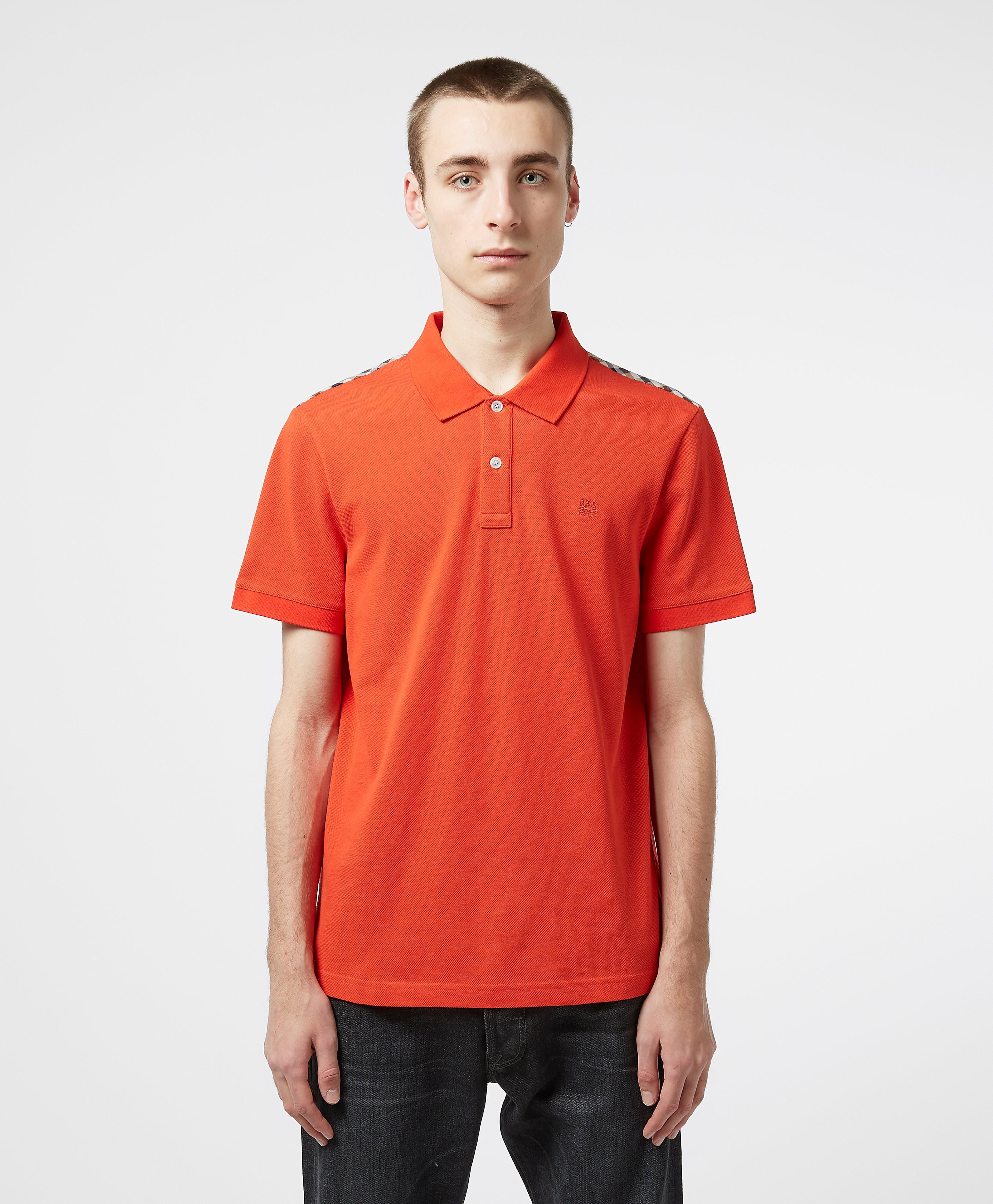 Aquascutum Hill Check Shoulder Polo Shirt