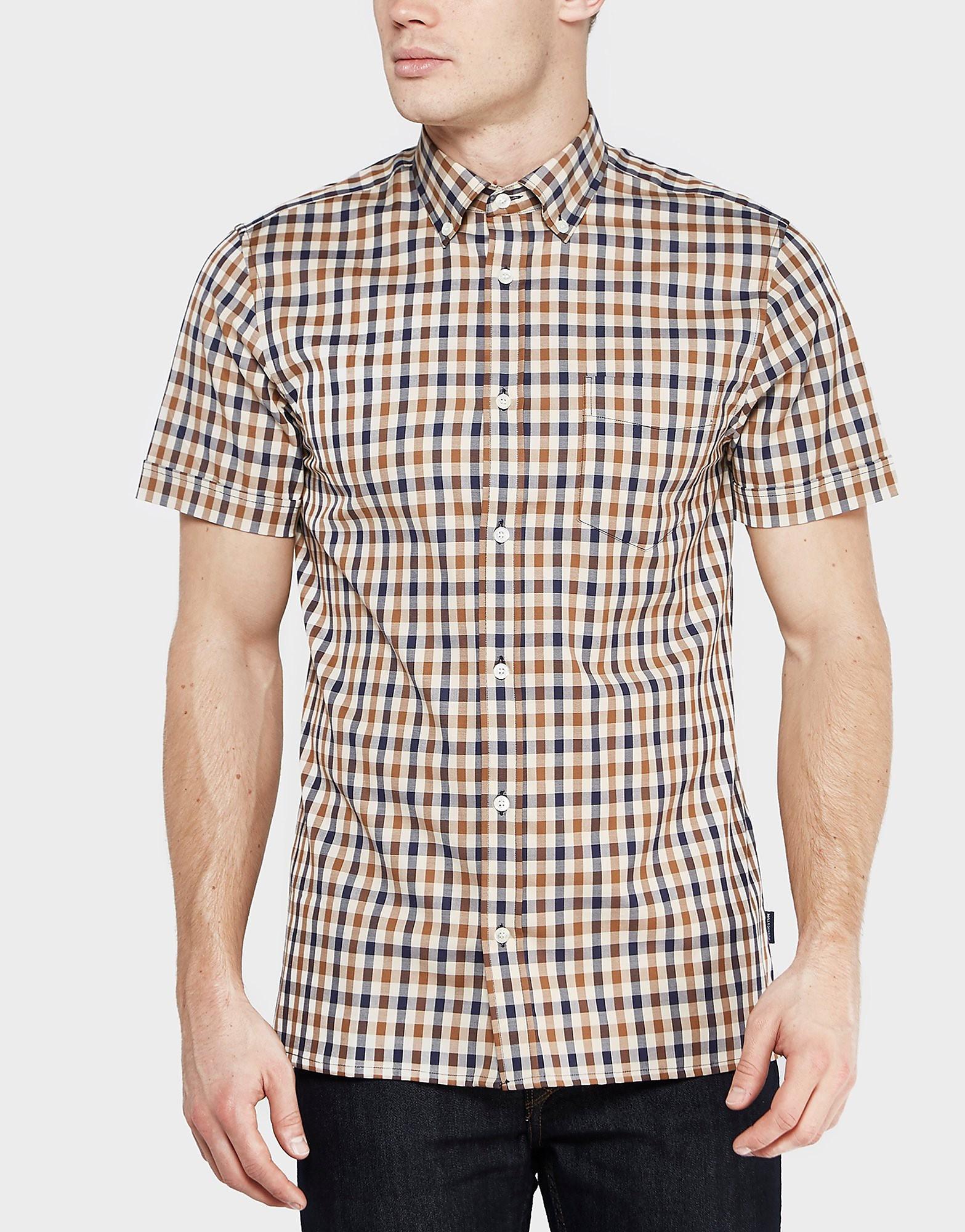 Aquascutum Short Sleeve Check Shirt