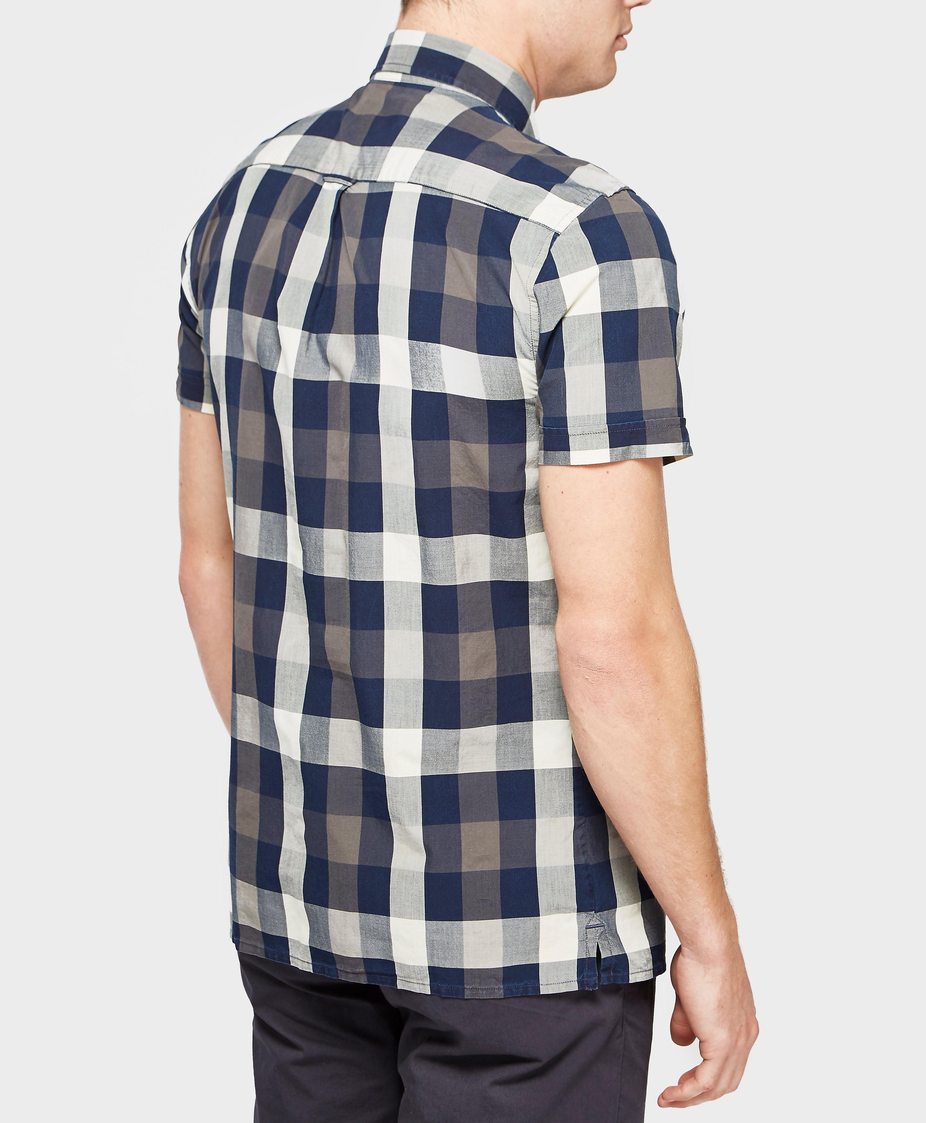 Aquascutum Luke Check Short Sleeve Shirt