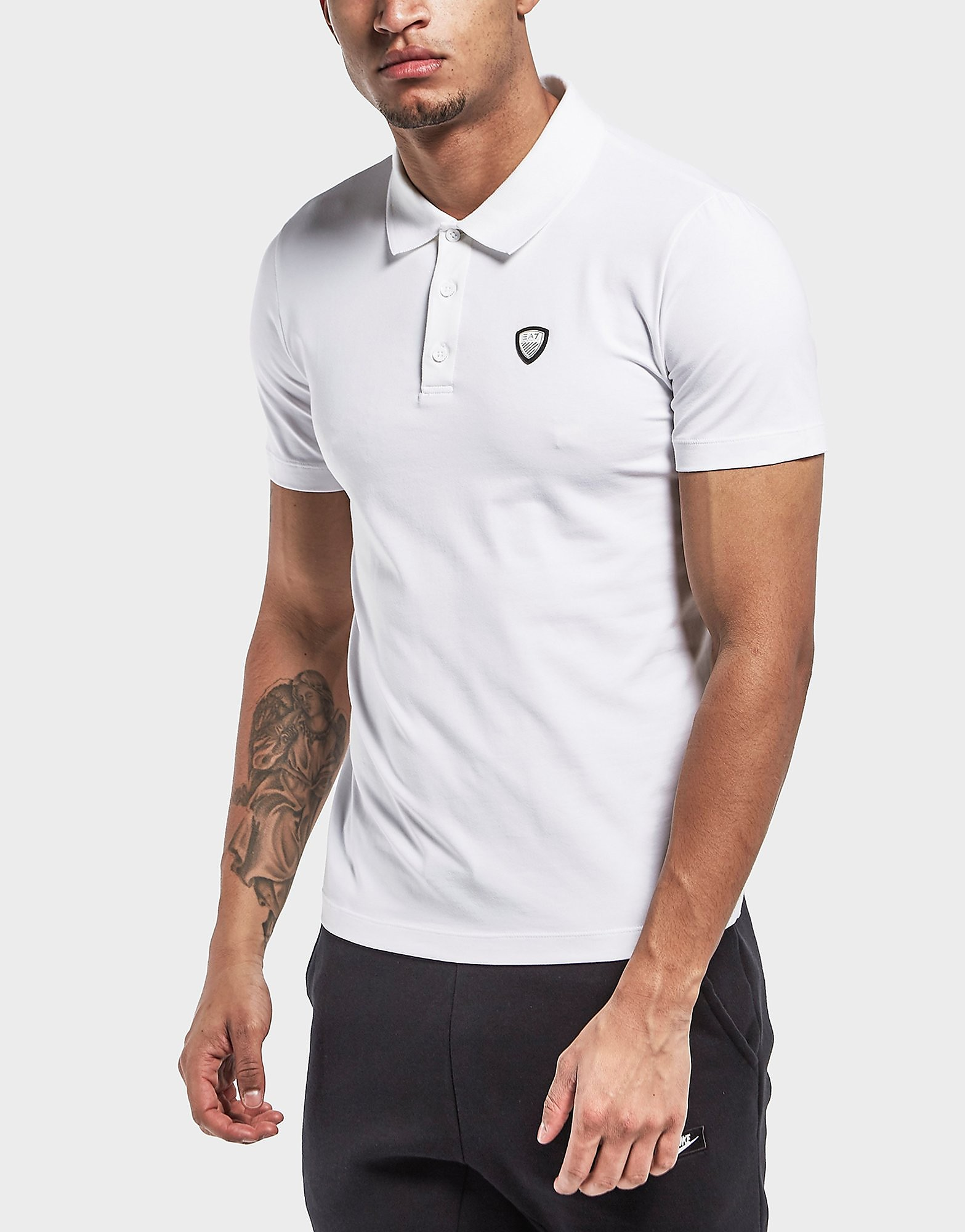 Emporio Armani EA7 Premium Shield Short Sleeve Polo Shirt