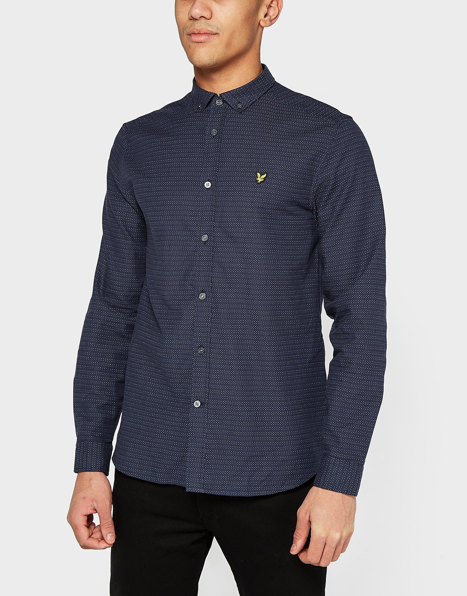 Lyle & Scott Running Stitch Long Sleeve Shirt