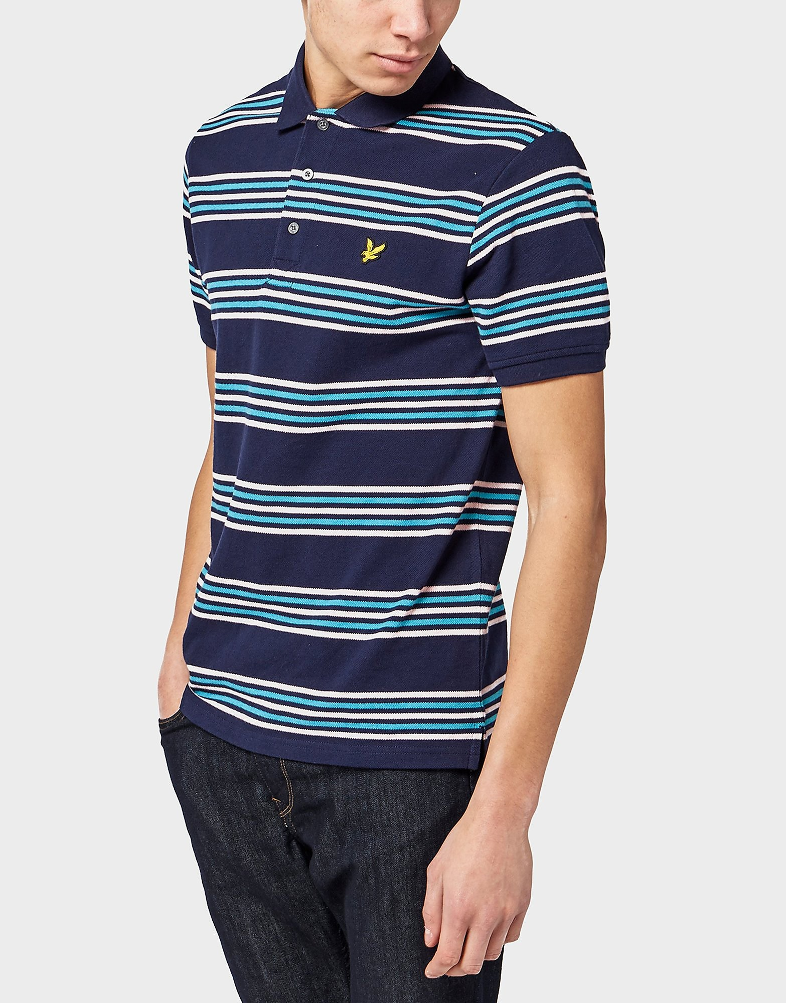 Lyle & Scott Horizontal Stripe Polo Shirt