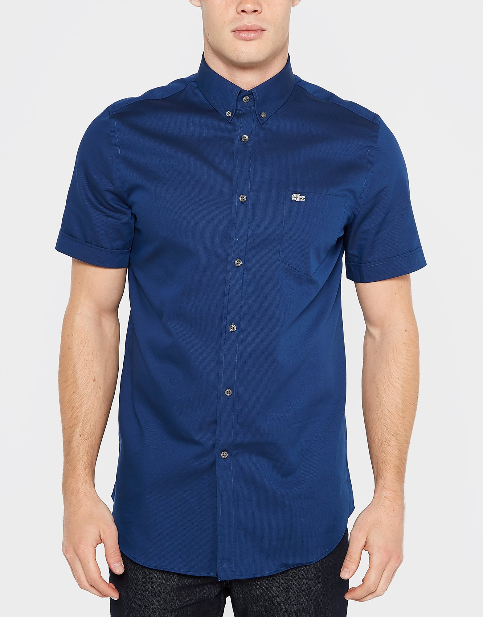 Lacoste Button Down Short Sleeve City Shirt