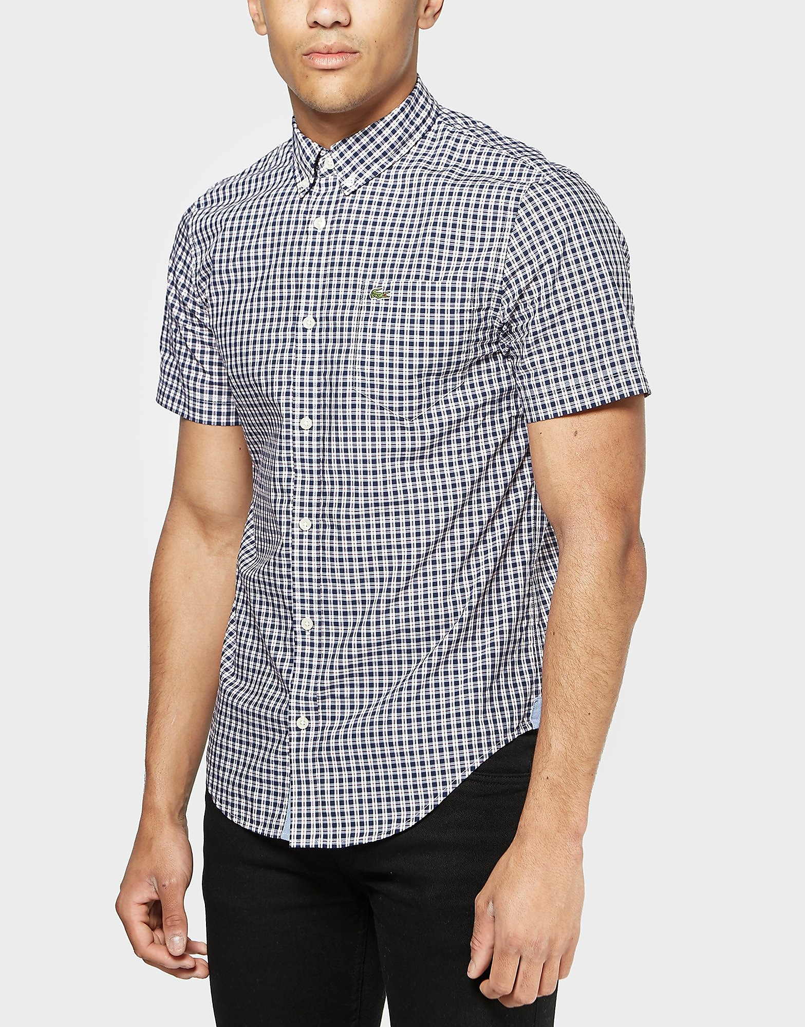 Lacoste Poplin Check Short Sleeve Shirt