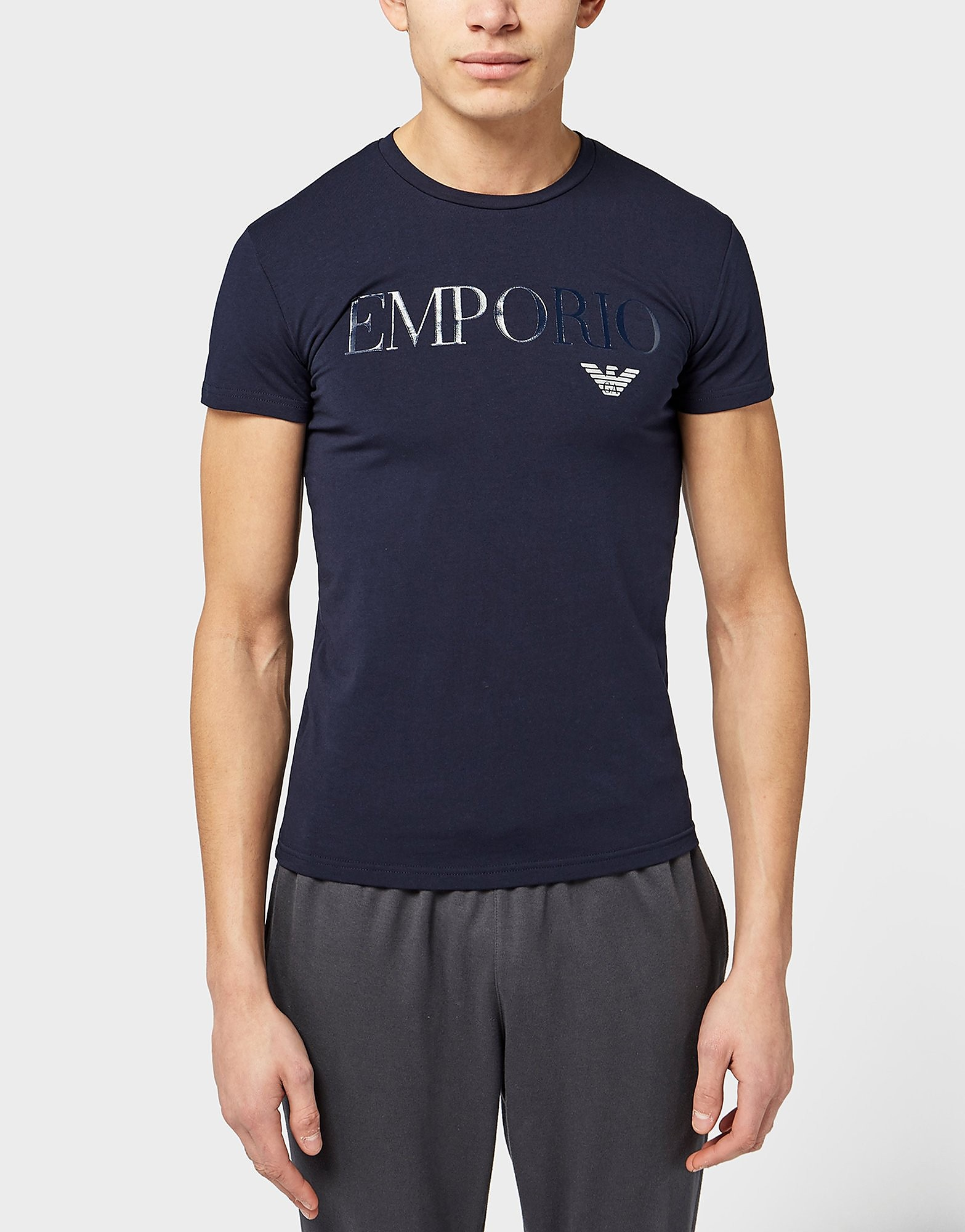 Emporio Armani Gel Print Crew T-Shirt