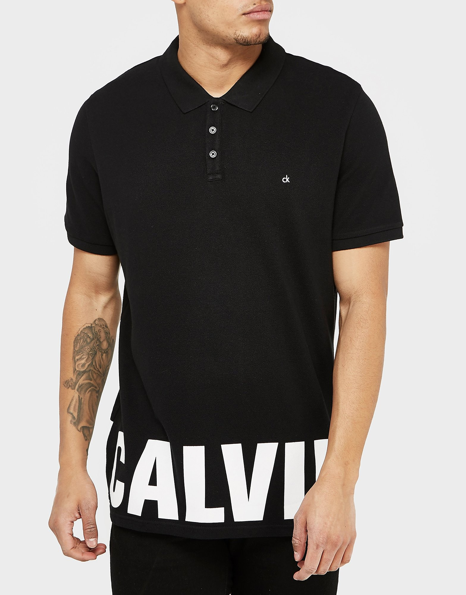 Calvin Klein Hem Logo Short Sleeve Polo Shirt