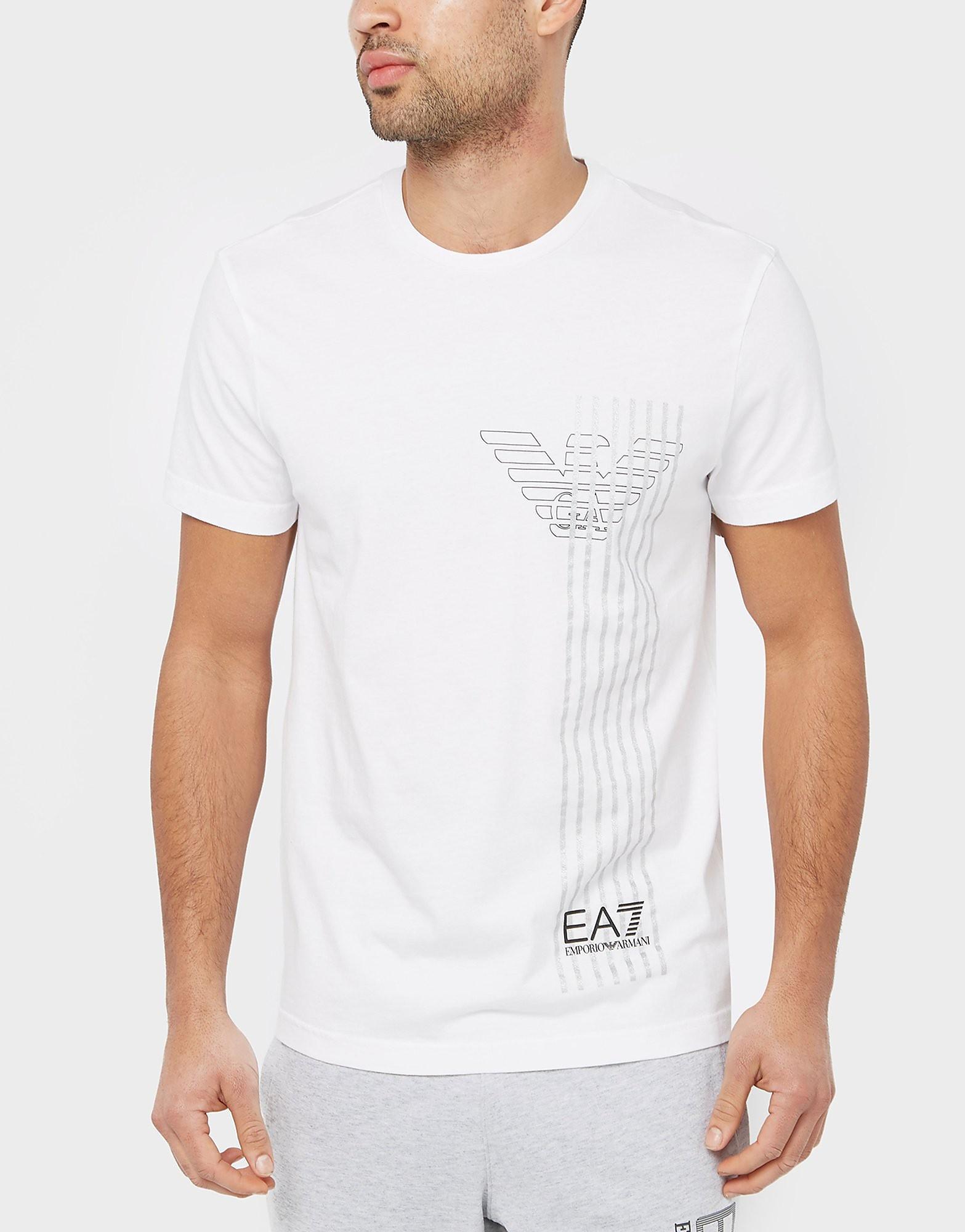 Emporio Armani EA7 Stripe Eagle TShirt  White White