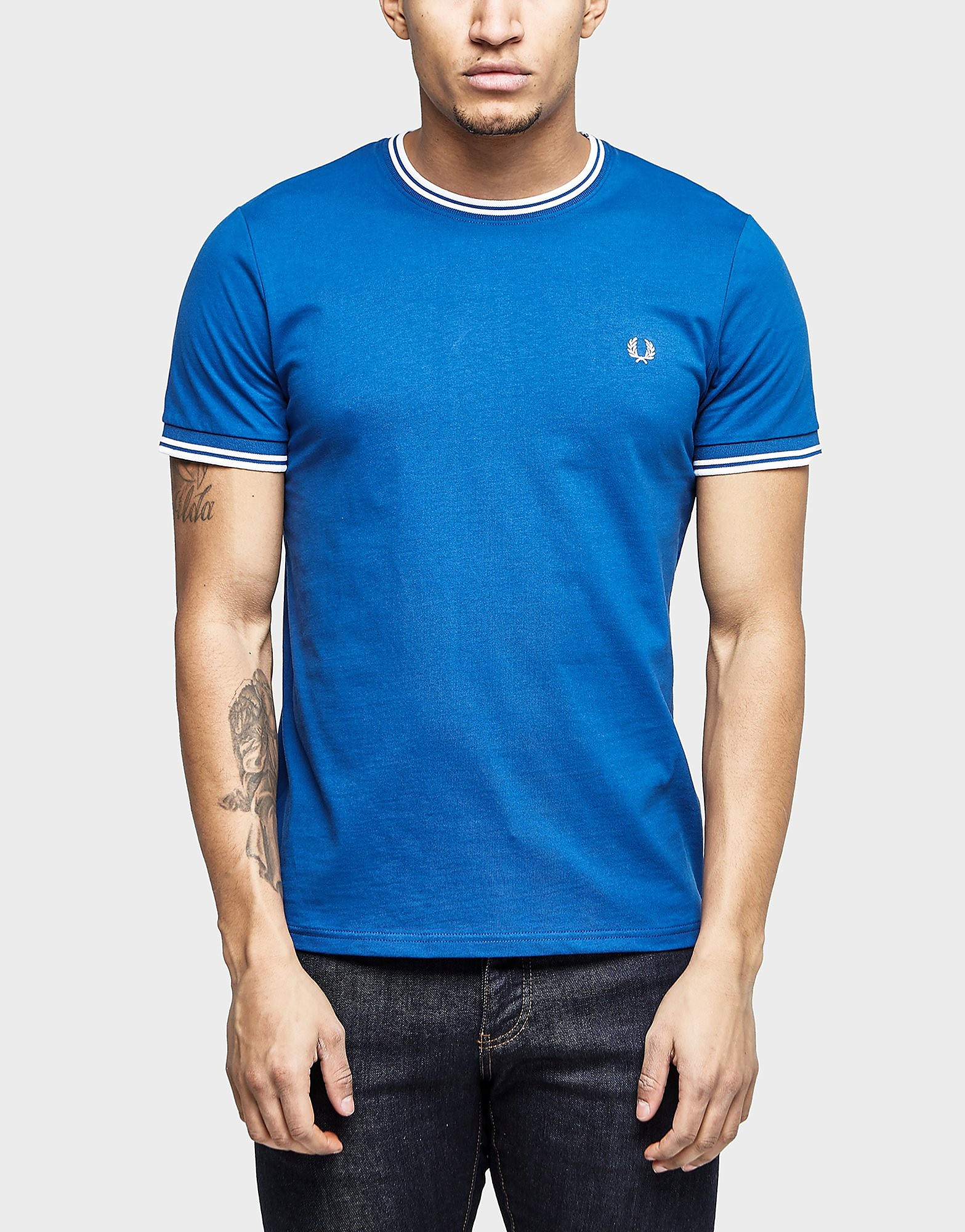 Fred Perry Tipped Crew Short Sleeve T-Shirt - Exclusive