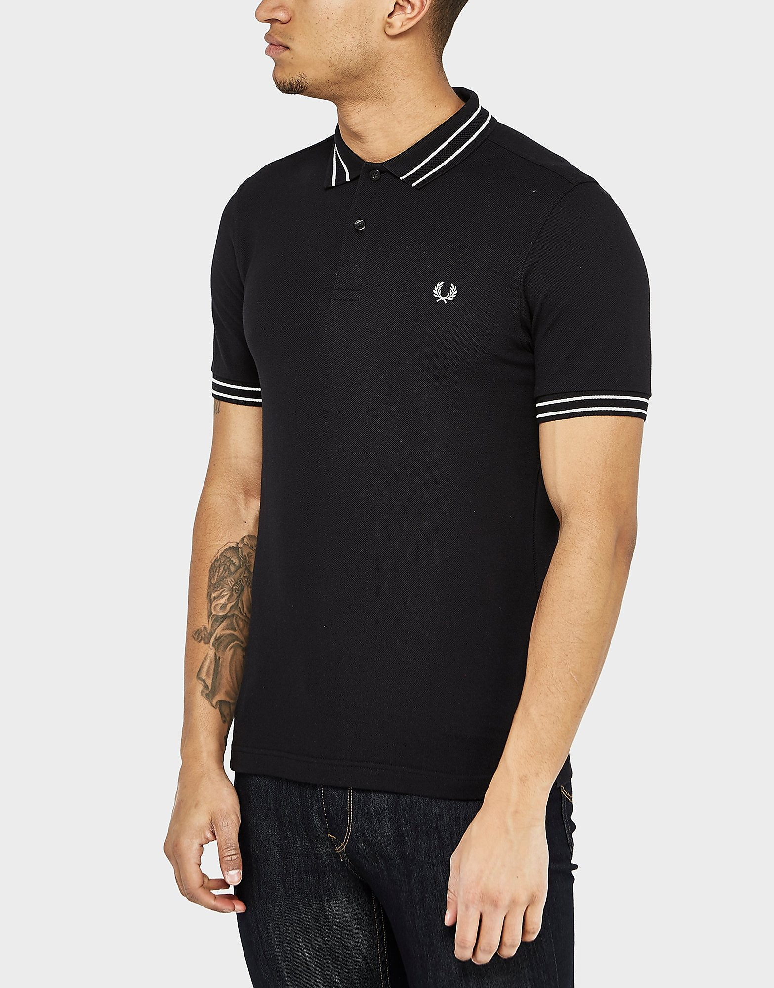 Fred Perry Tramline Polo Shirt  Black Black