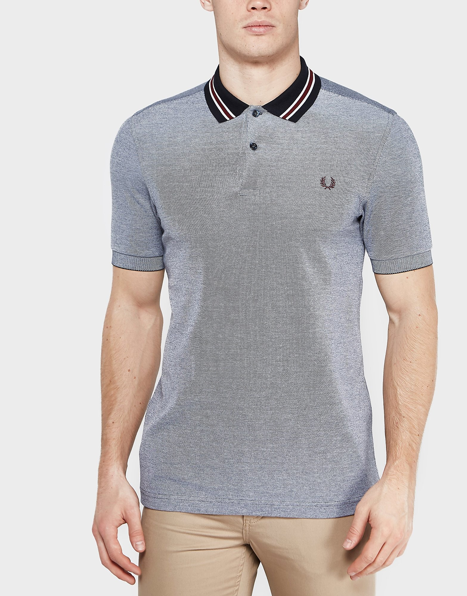 Fred Perry Bomber Stripe Polo Shirt  Navy Navy