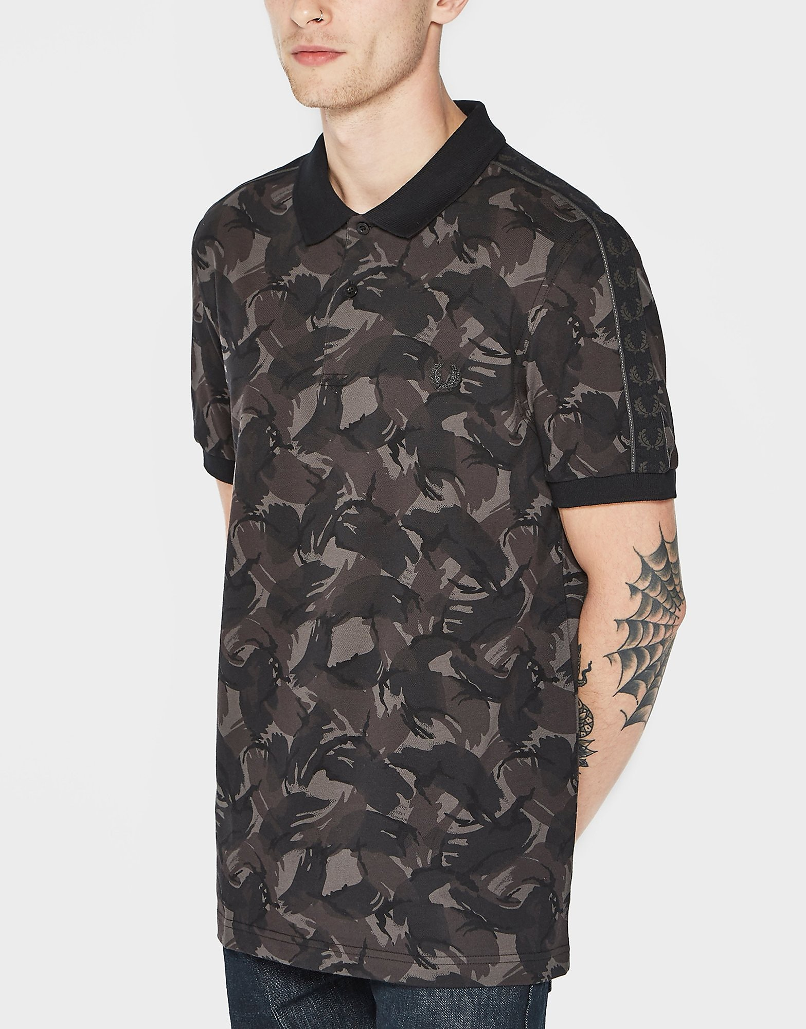 Fred Perry Camo Print Polo Shirt