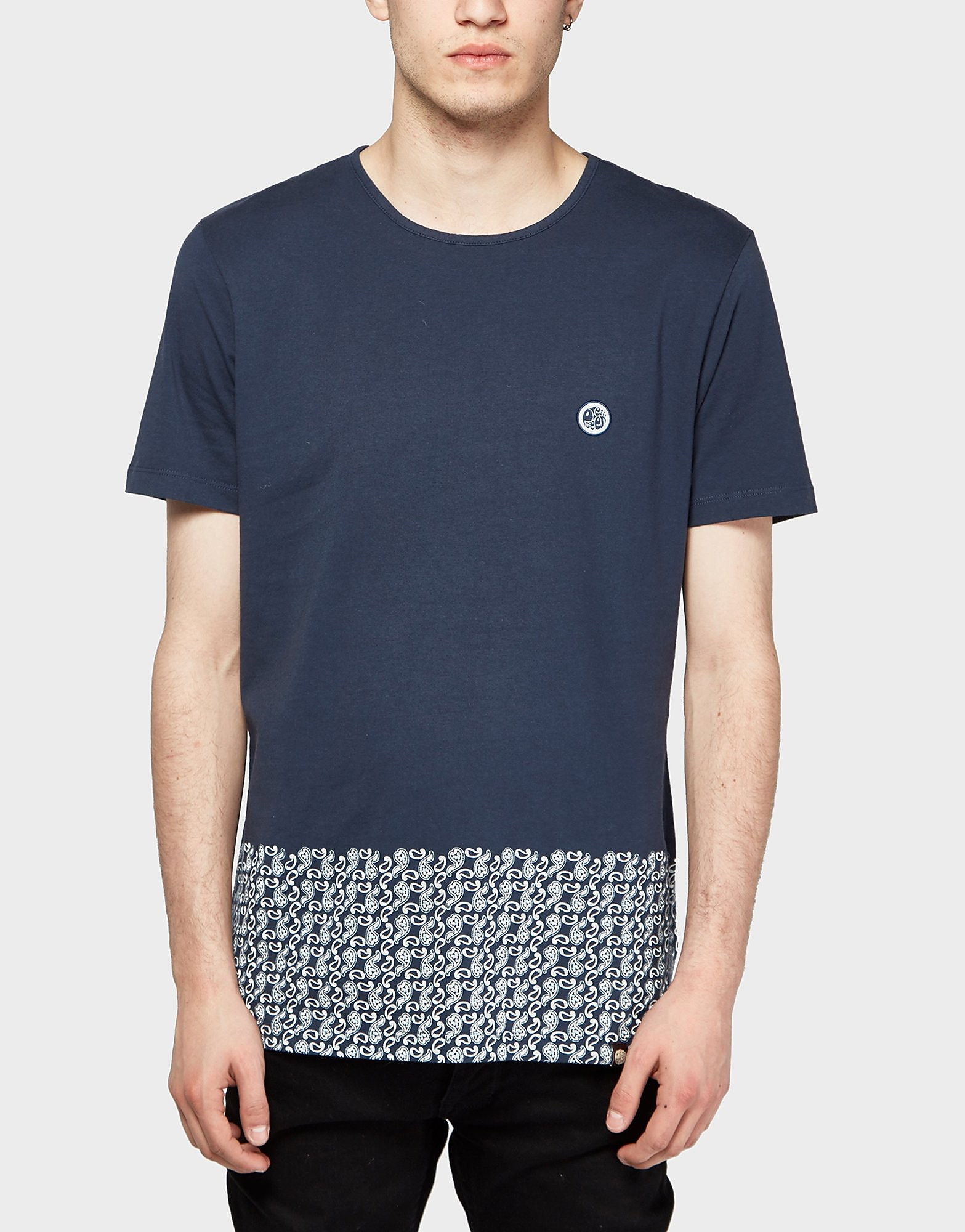Pretty Green Paisley Hem Short Sleeve T-Shirt - Exclusive
