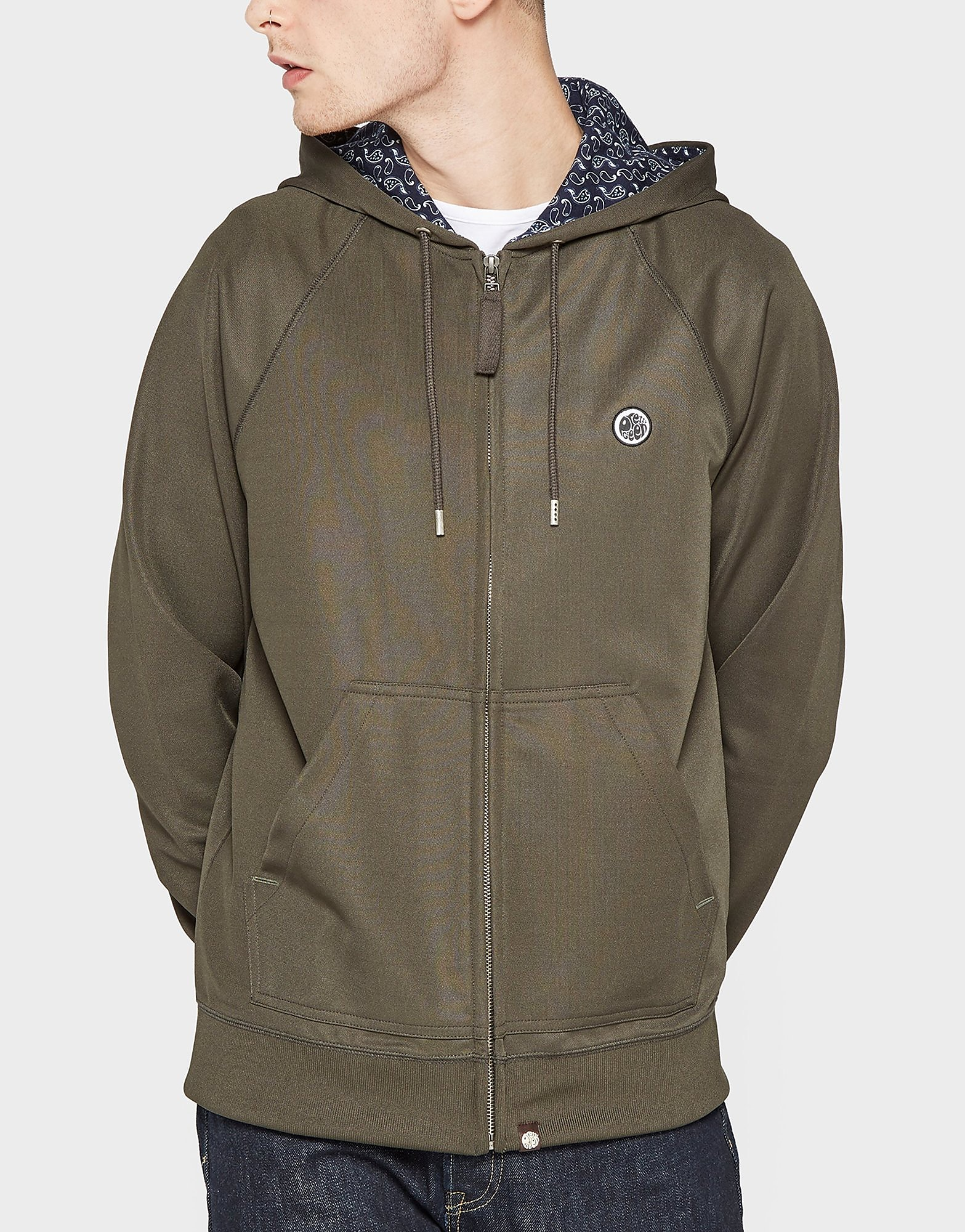 Pretty Green Full-Zip Pique Hooded Jacket