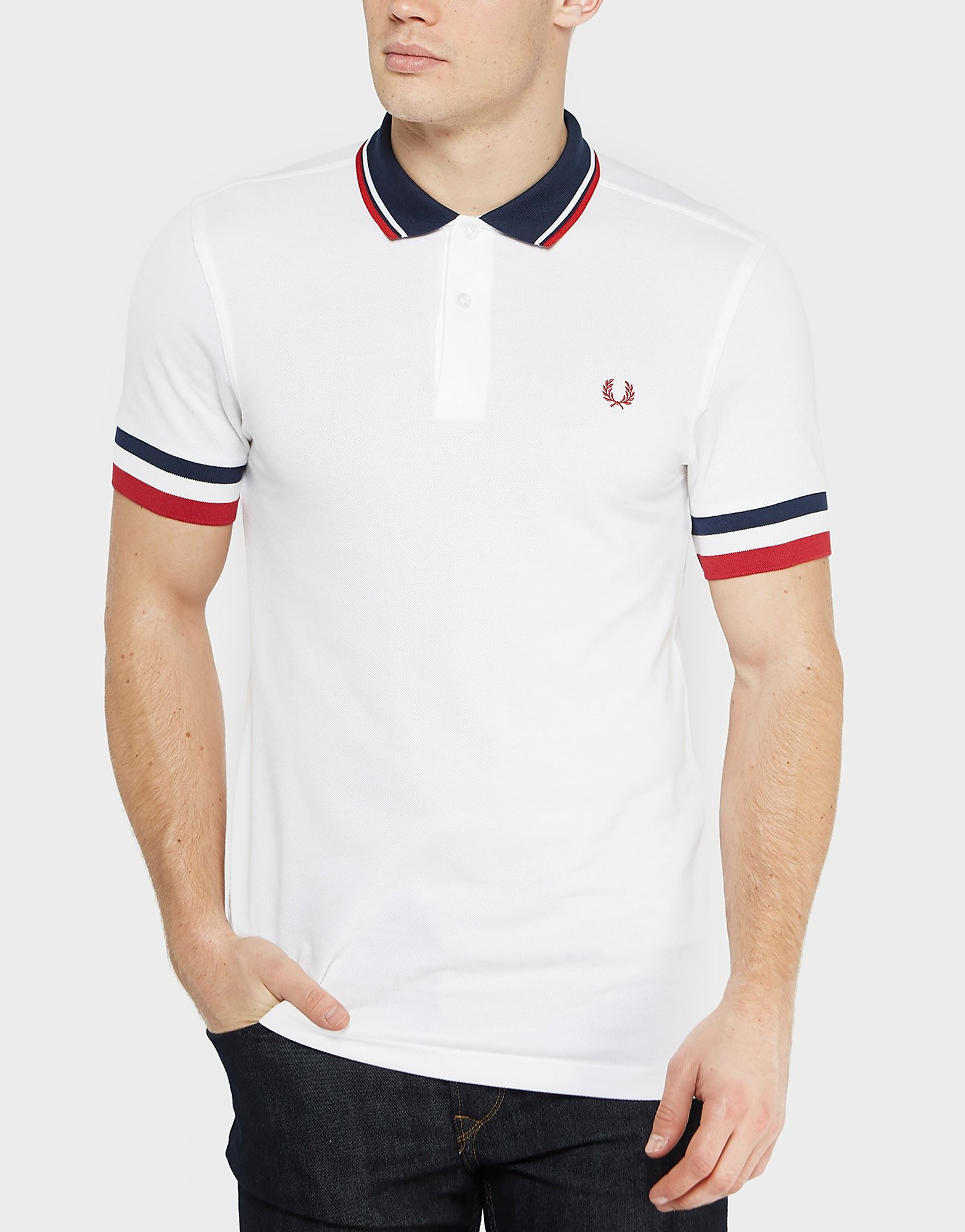 Fred Perry Striped Cuff Polo Shirt - Exclusive