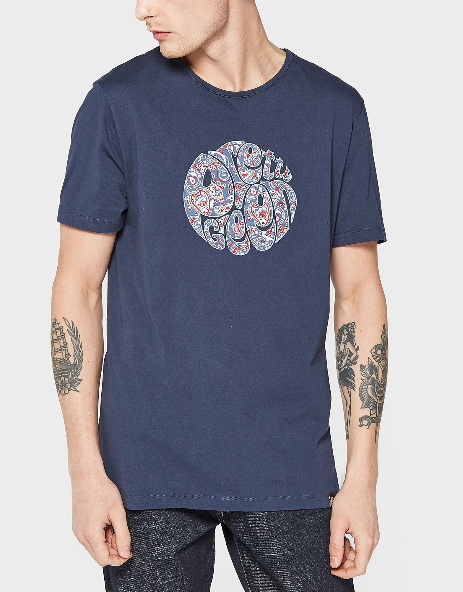 Pretty Green Camley Paisley Logo T-Shirt