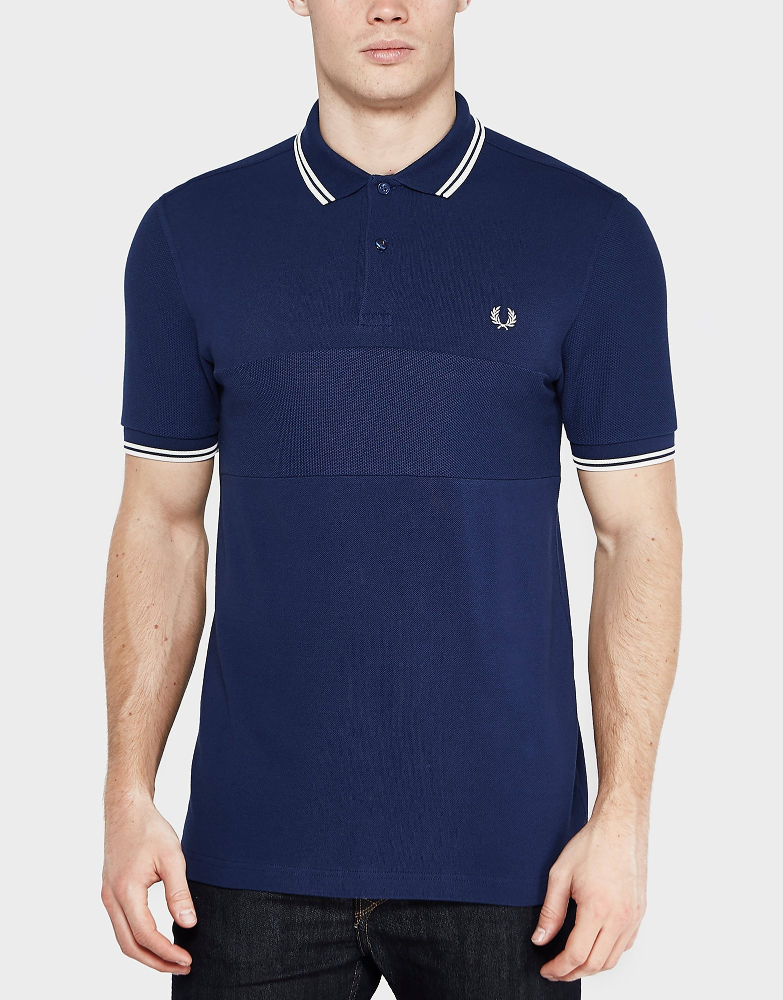 Fred Perry Textured Panel Short Sleeve Polo Shirt