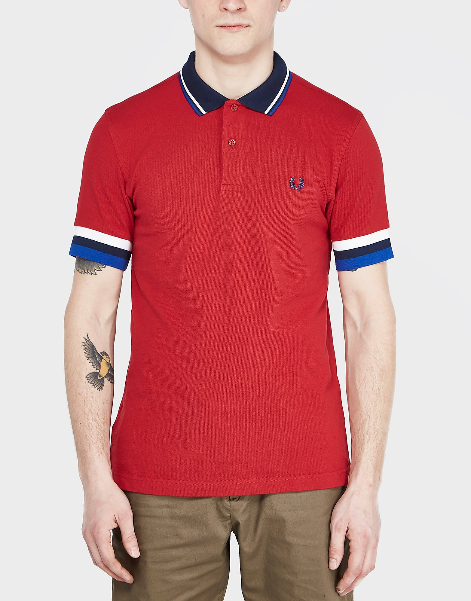 Fred Perry Striped Cuff Polo Shirt