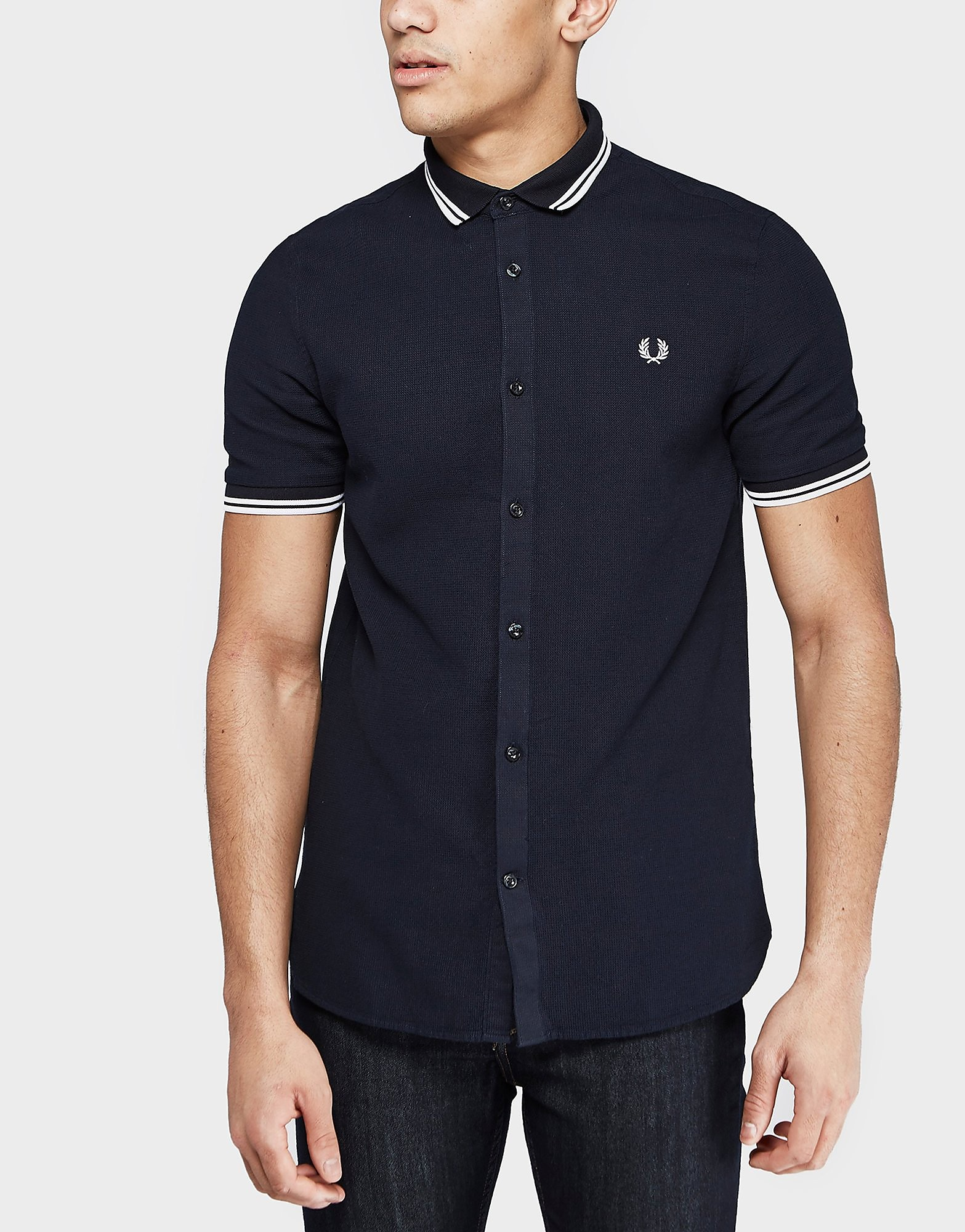 Fred Perry Tipped Waffle Short Sleeve Shirt