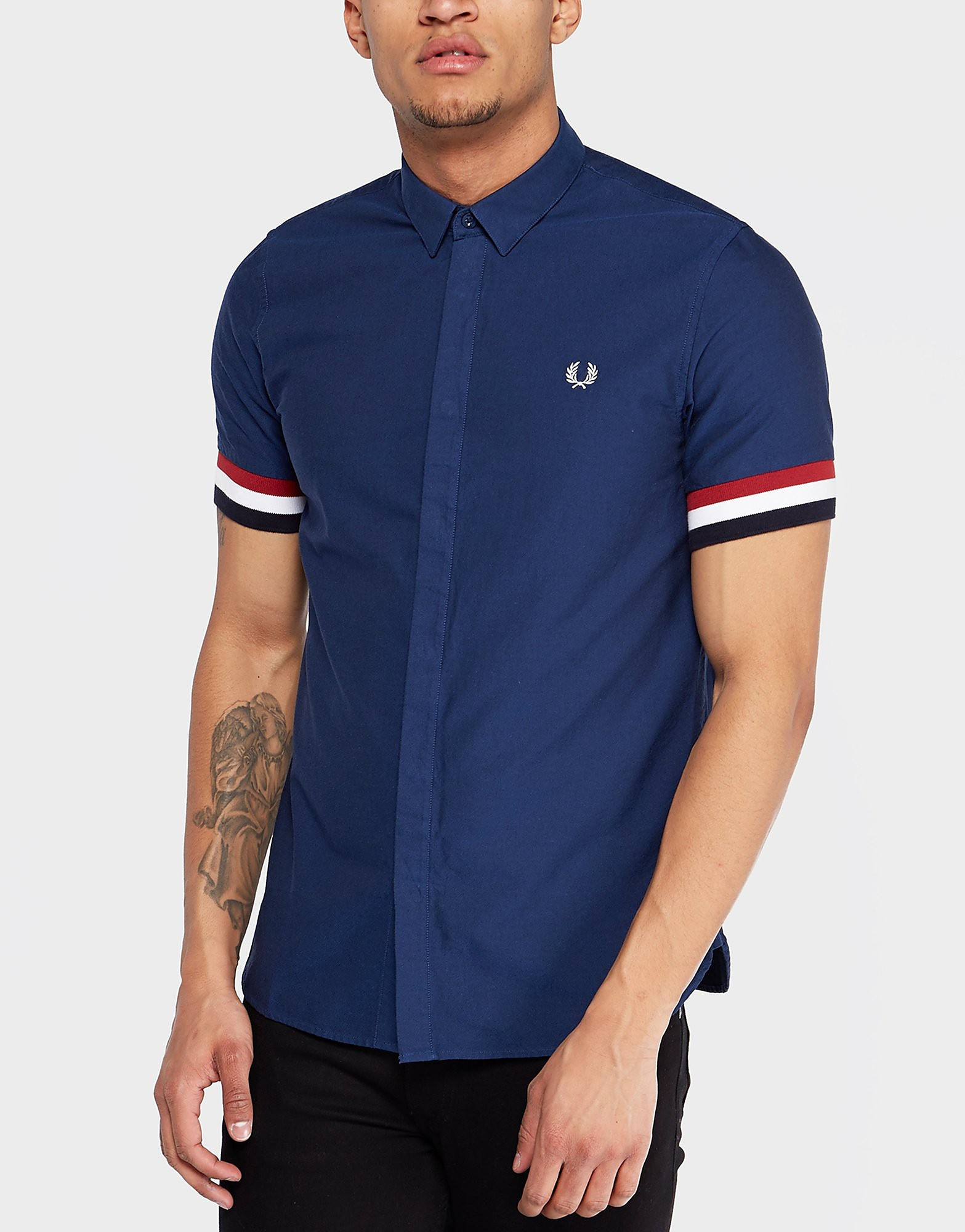 Fred Perry Striped Cuff Shirt