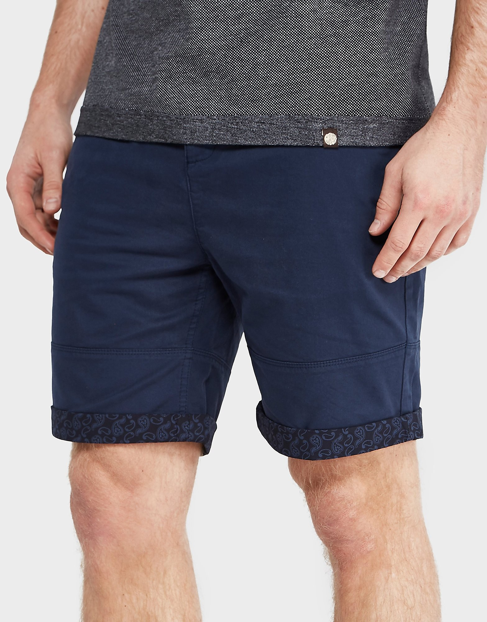 Pretty Green Paisley Turn-up Shorts - Exclusive
