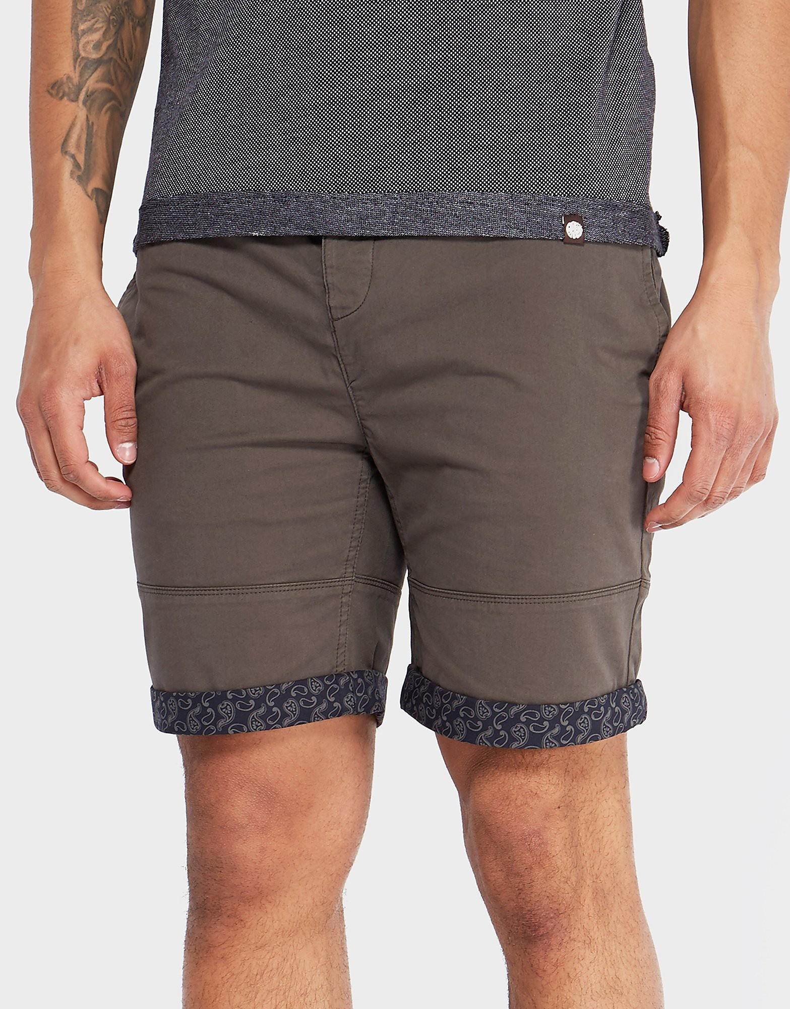Pretty Green Paisley Turn-up Chino Shorts - Exclusive