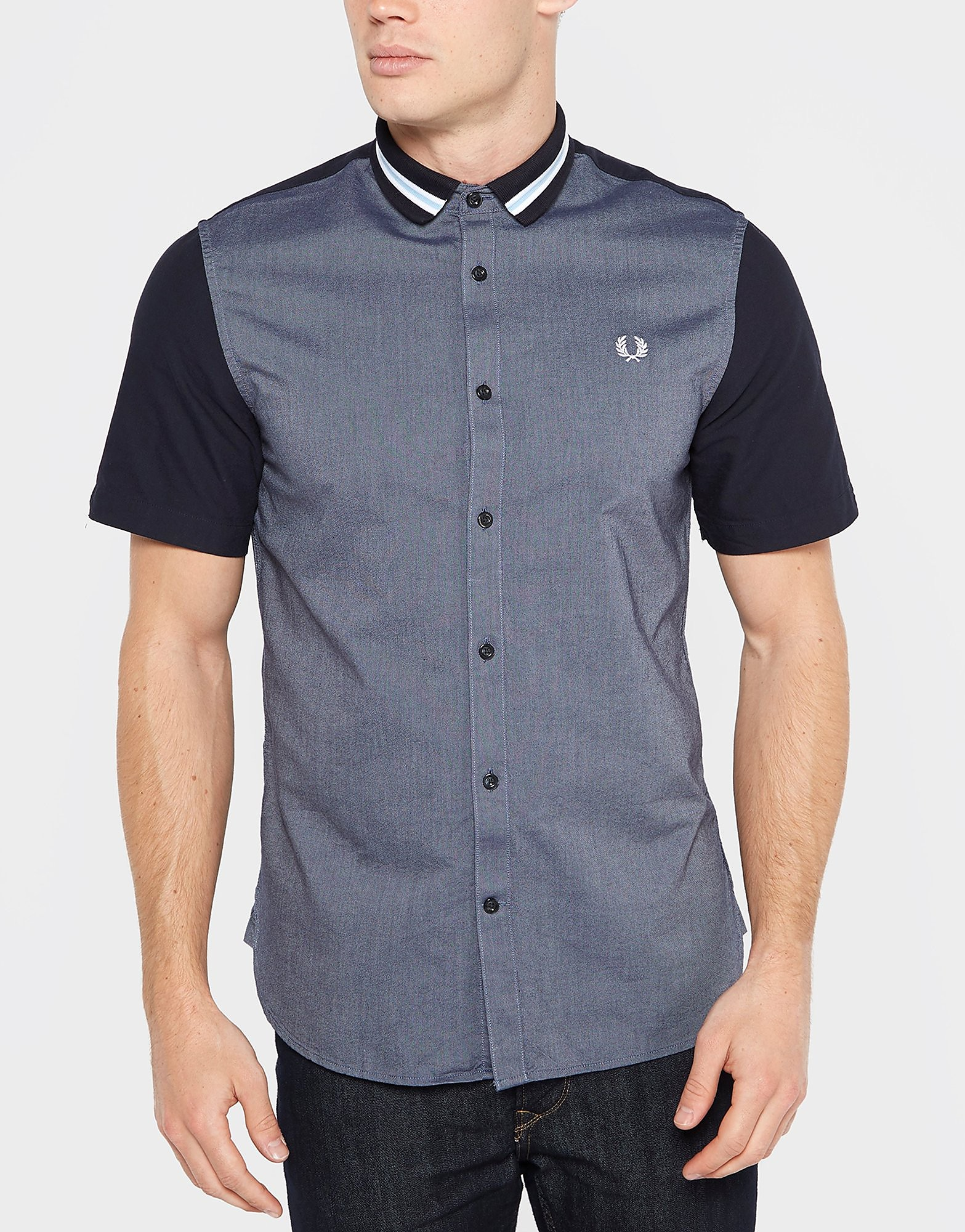 Fred Perry Bomber Stripe Collar Shirt