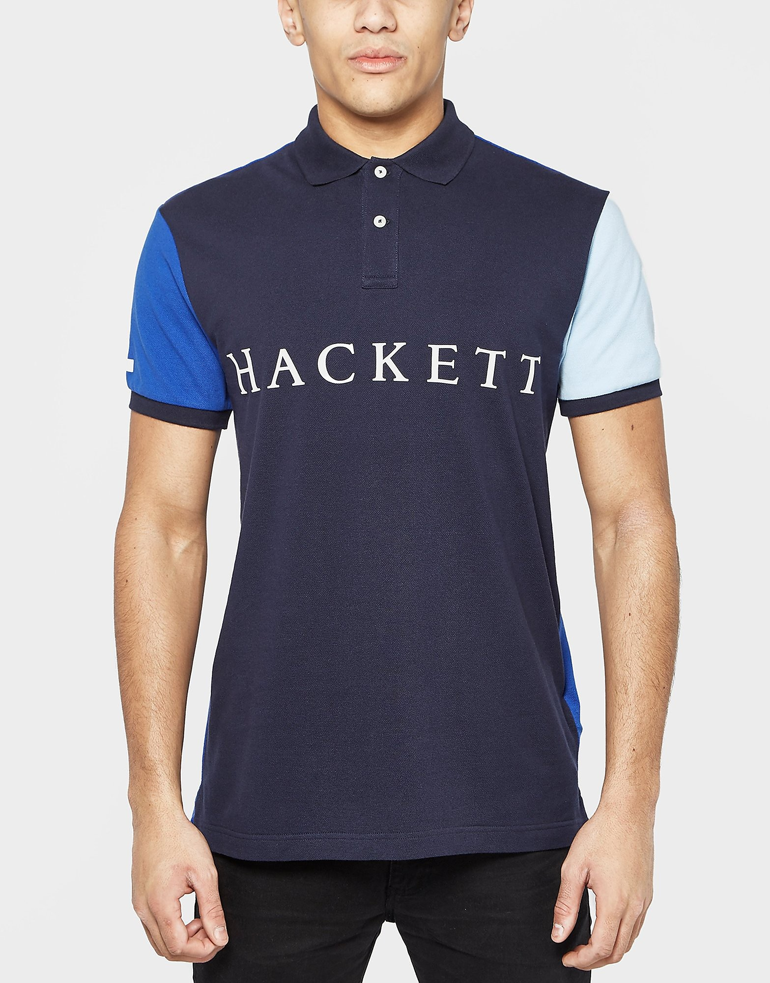 HACKETT Contrasting Sleeve Polo Shirt