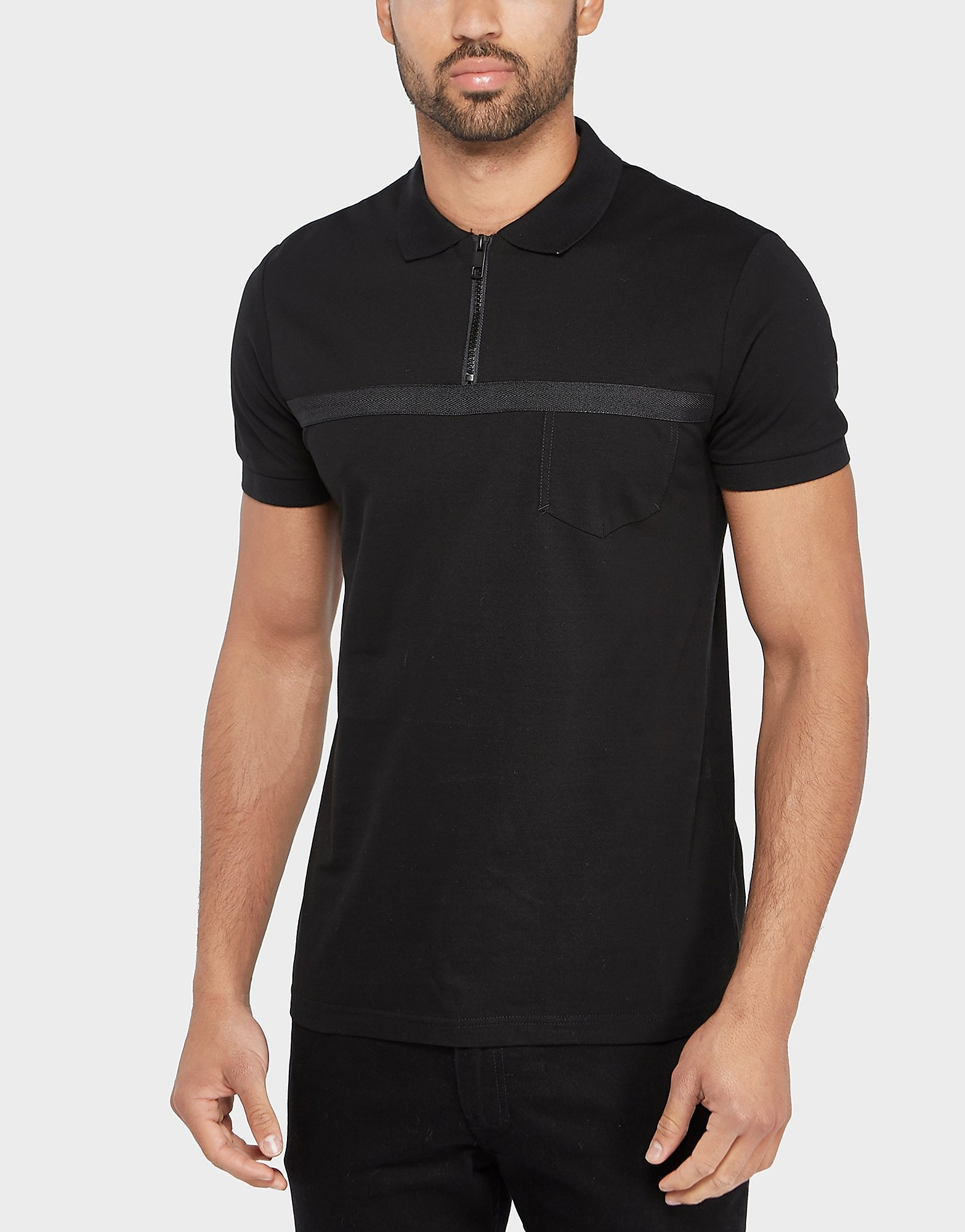 Antony Morato Zip Short Sleeve Polo Shirt
