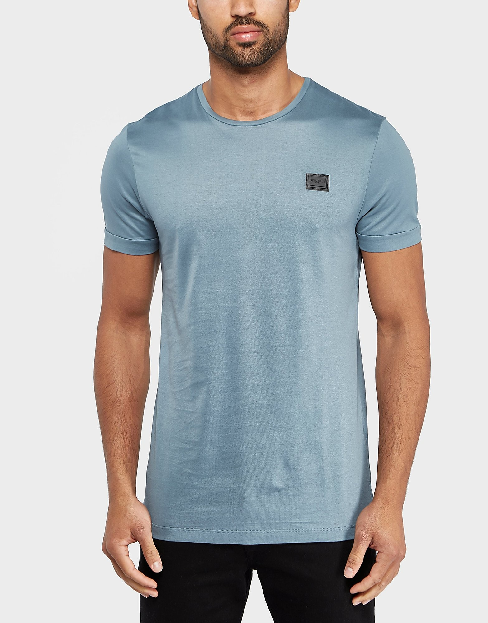 Antony Morato Plaque Short Sleeve TShirt  Light Blue Light Blue