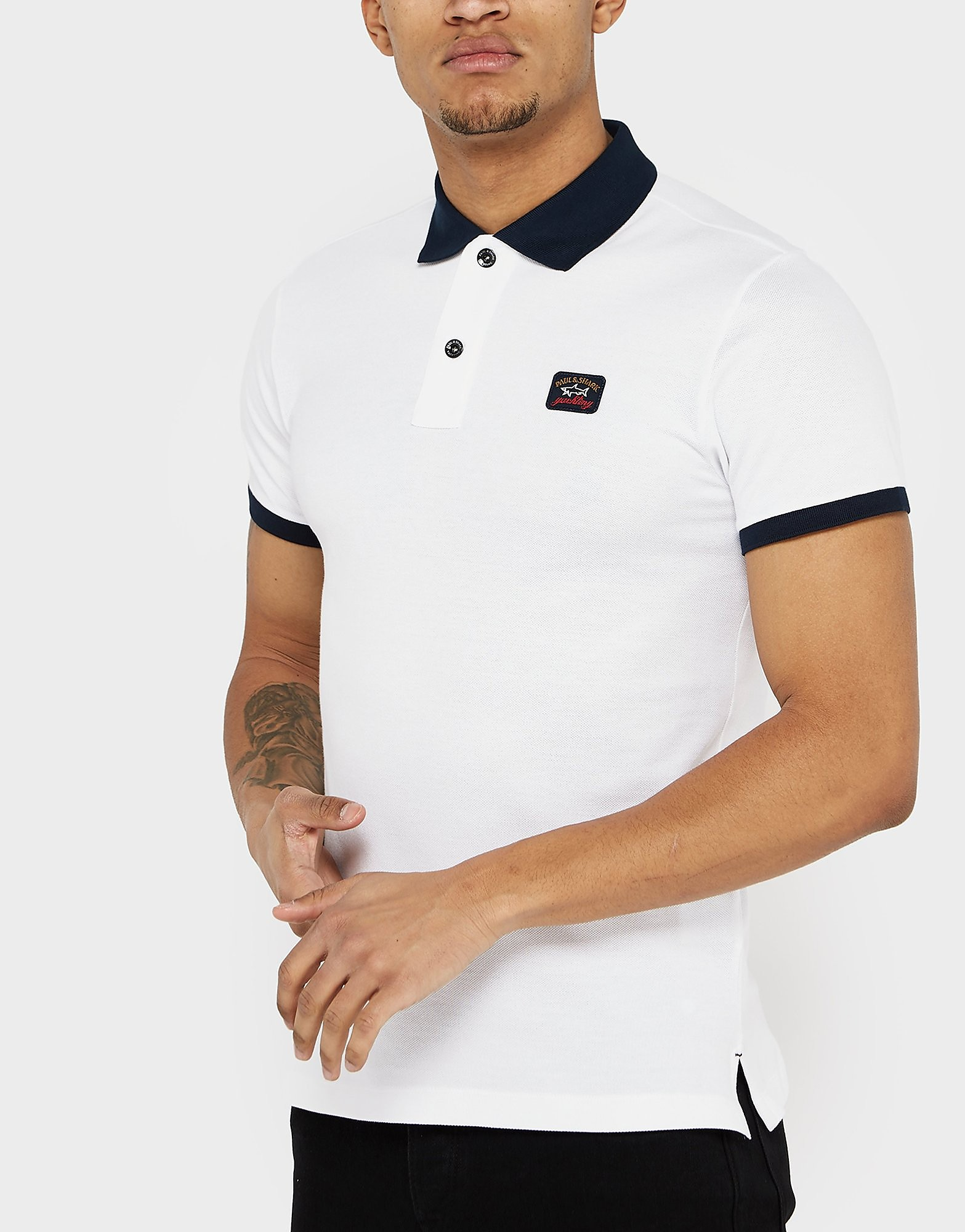 Paul and Shark Contrast Collar Polo Shirt - Exclusive