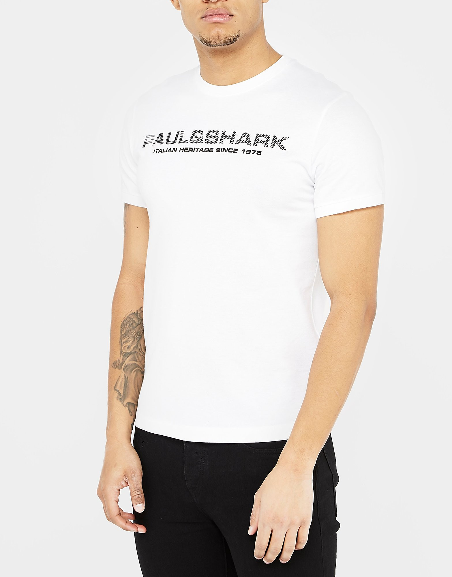 Paul and Shark Mesh Logo Short Sleeve T-Shirt