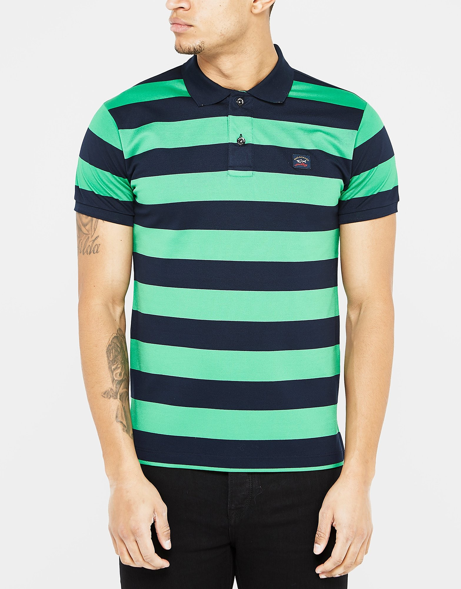 Paul & Shark Black Stripe Polo Shirt