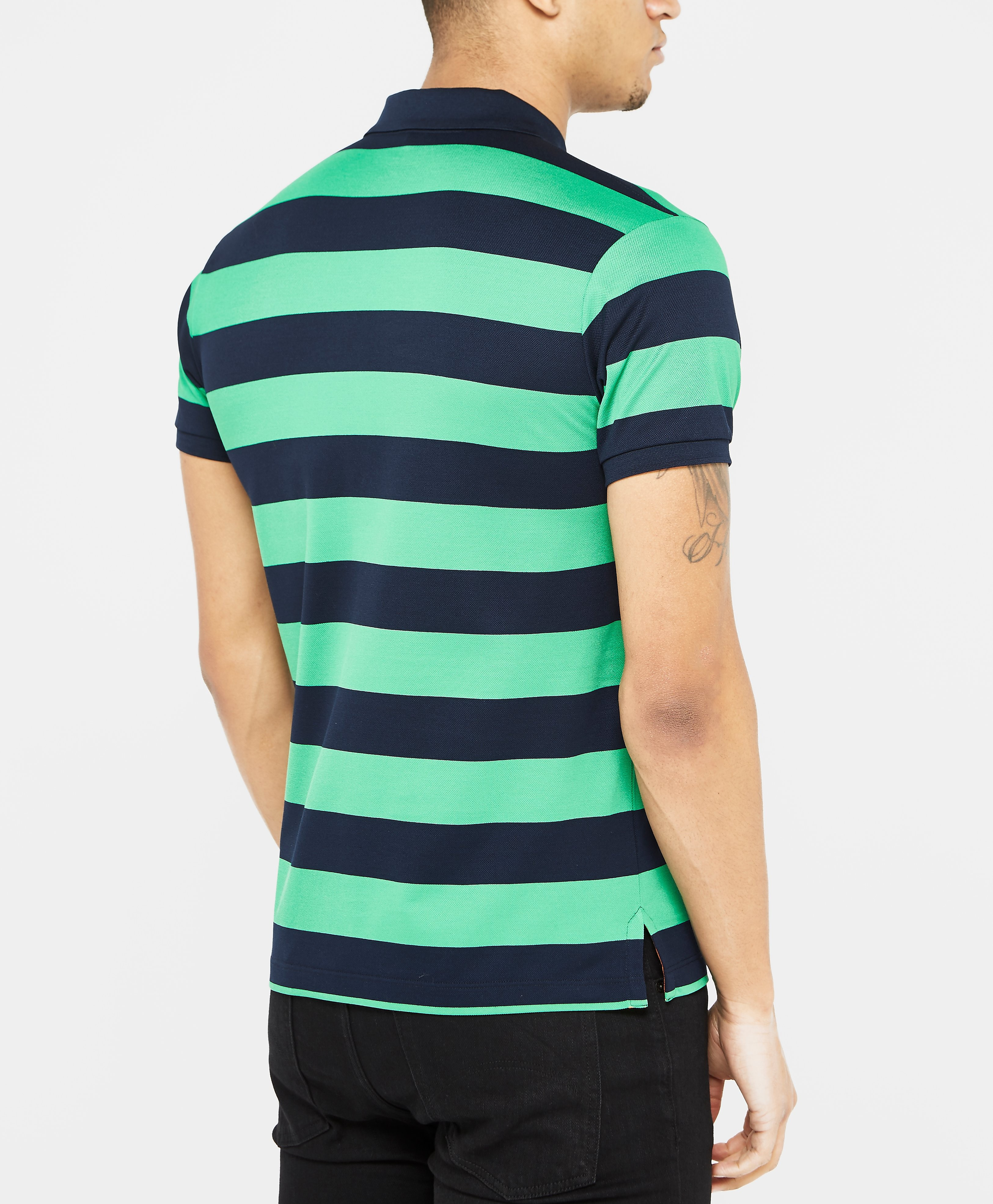 Paul & Shark Black Stripe Short Sleeve Polo Shirt
