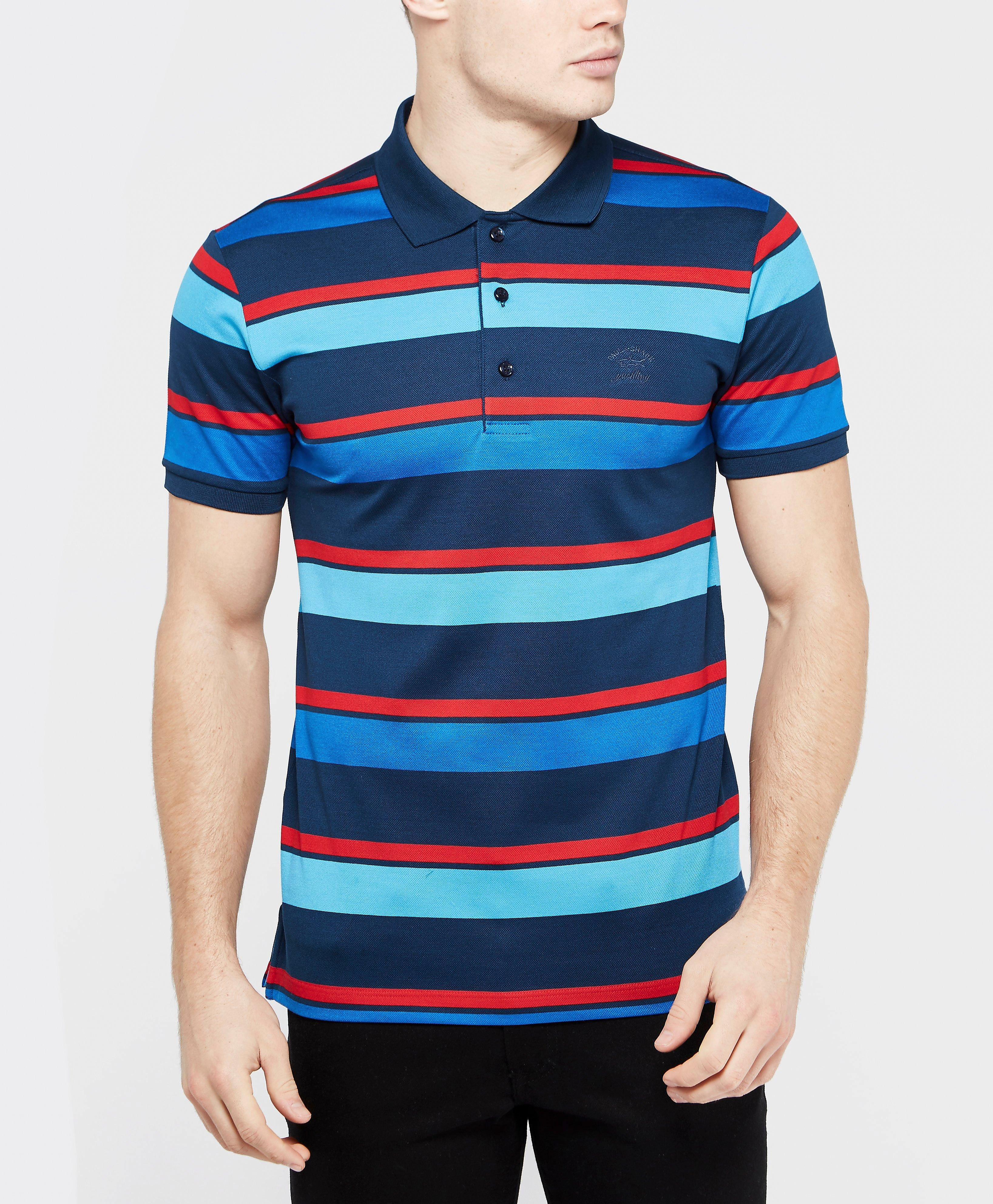 Paul and Shark Multi Stripe Polo Shirt